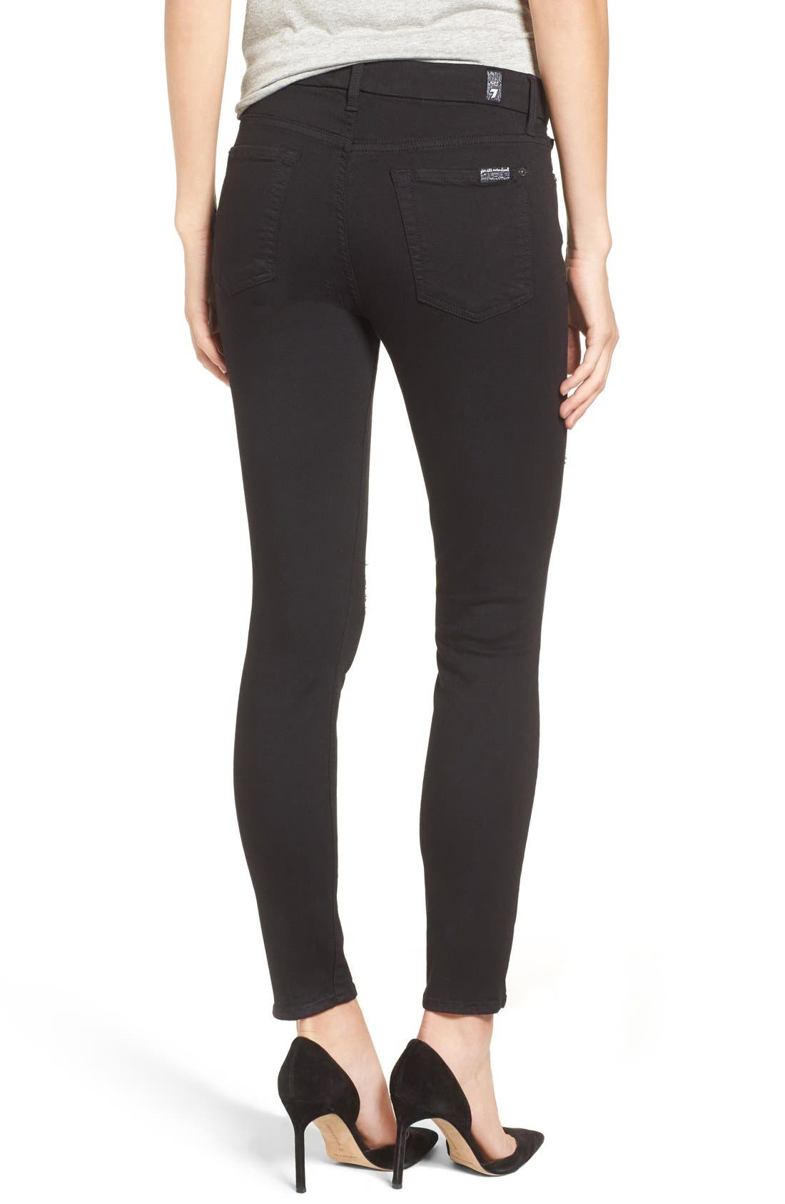 Coated Ankle Skinny Jeans,                             Alternate thumbnail 6, color,