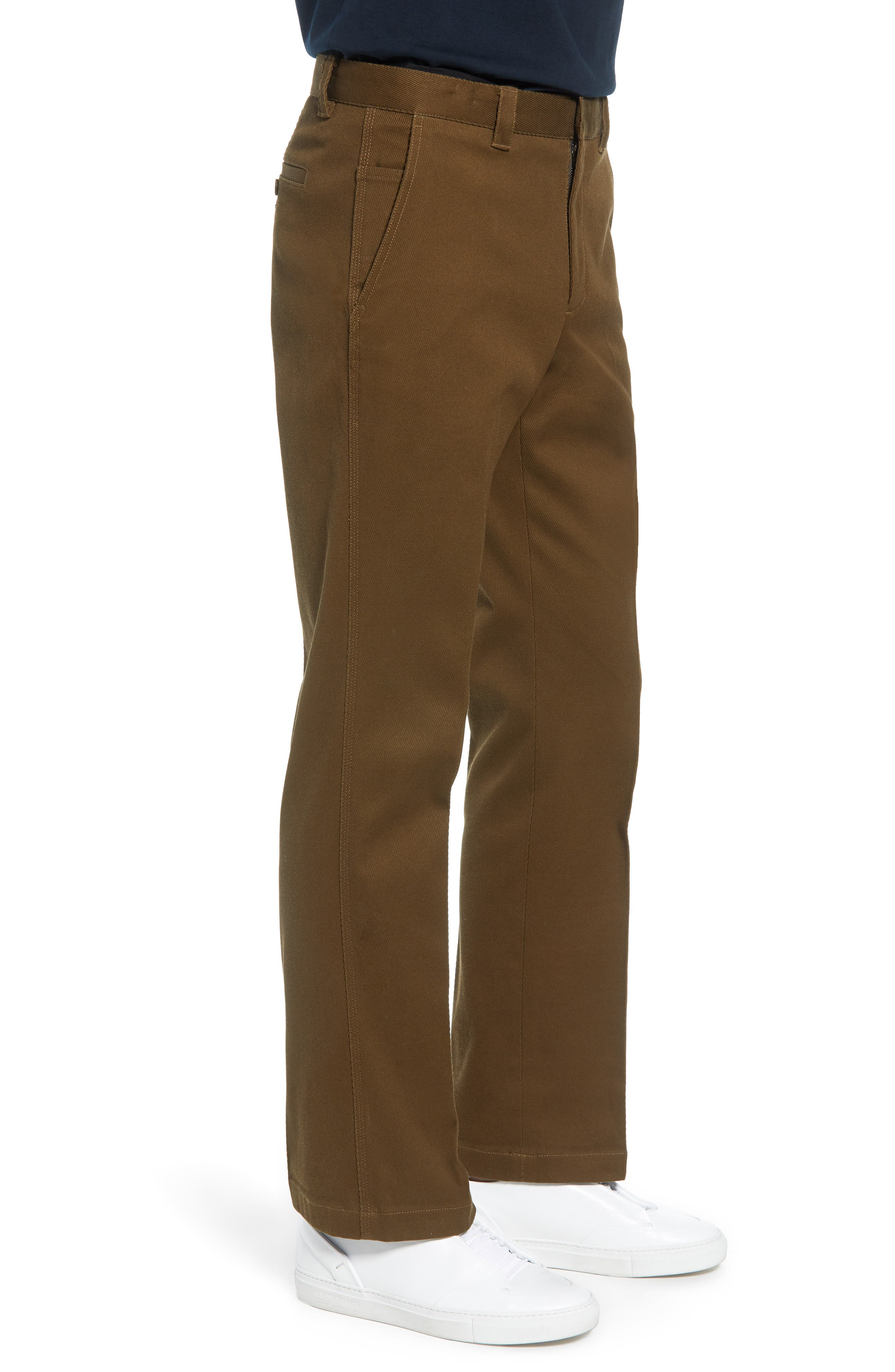 Stay Pressed Classic Fit Pants,                             Alternate thumbnail 3, color,                             INFANTRY GREEN