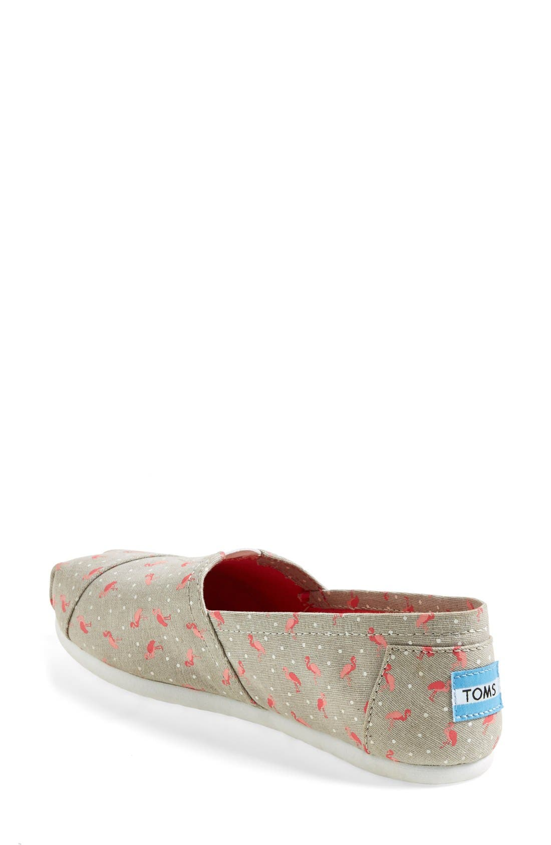 'Classic - Flamingo' Alpargata Slip-On,                             Alternate thumbnail 4, color,                             020