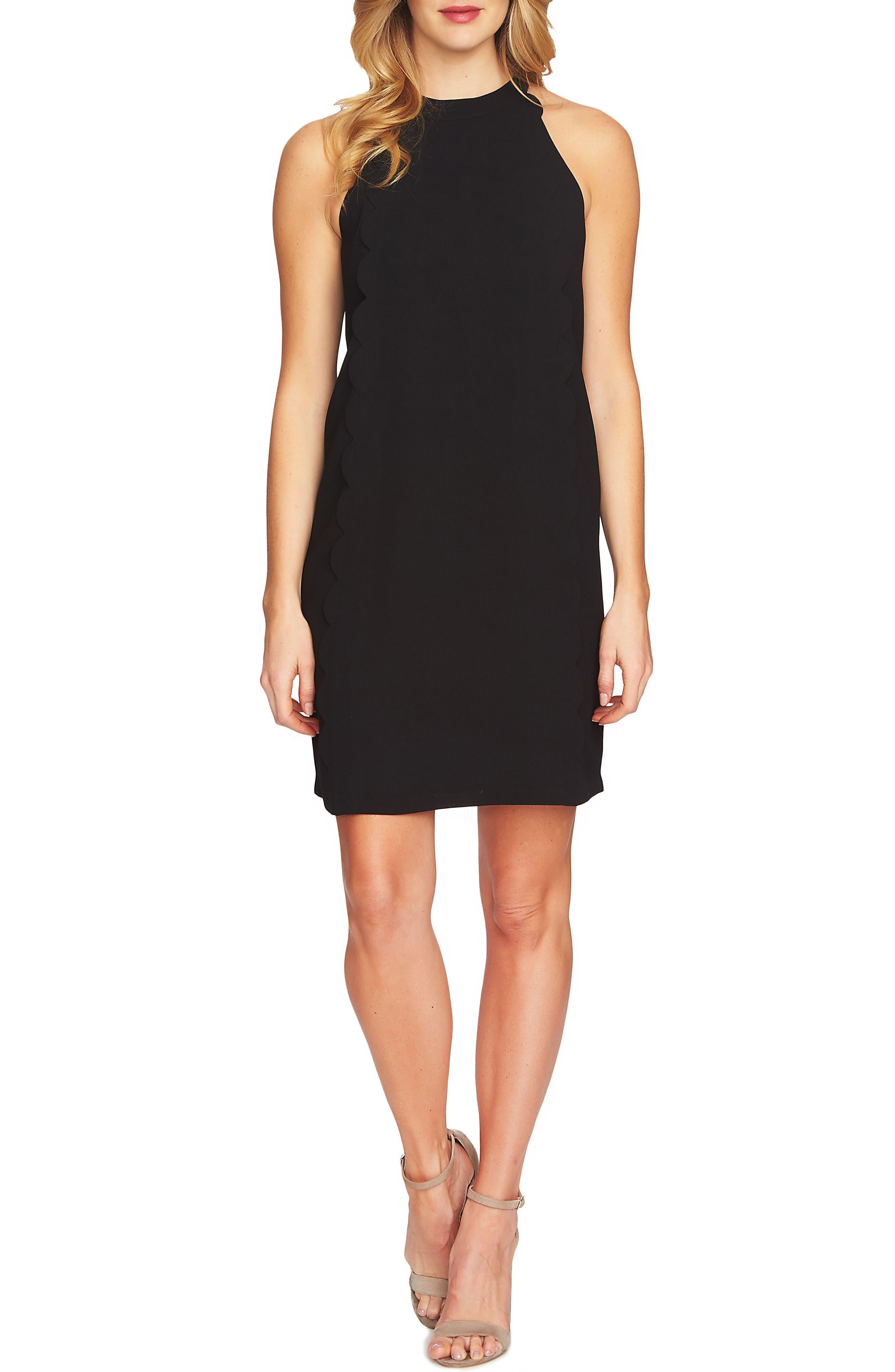 Scalloped Shift Dress,                         Main,                         color, 006