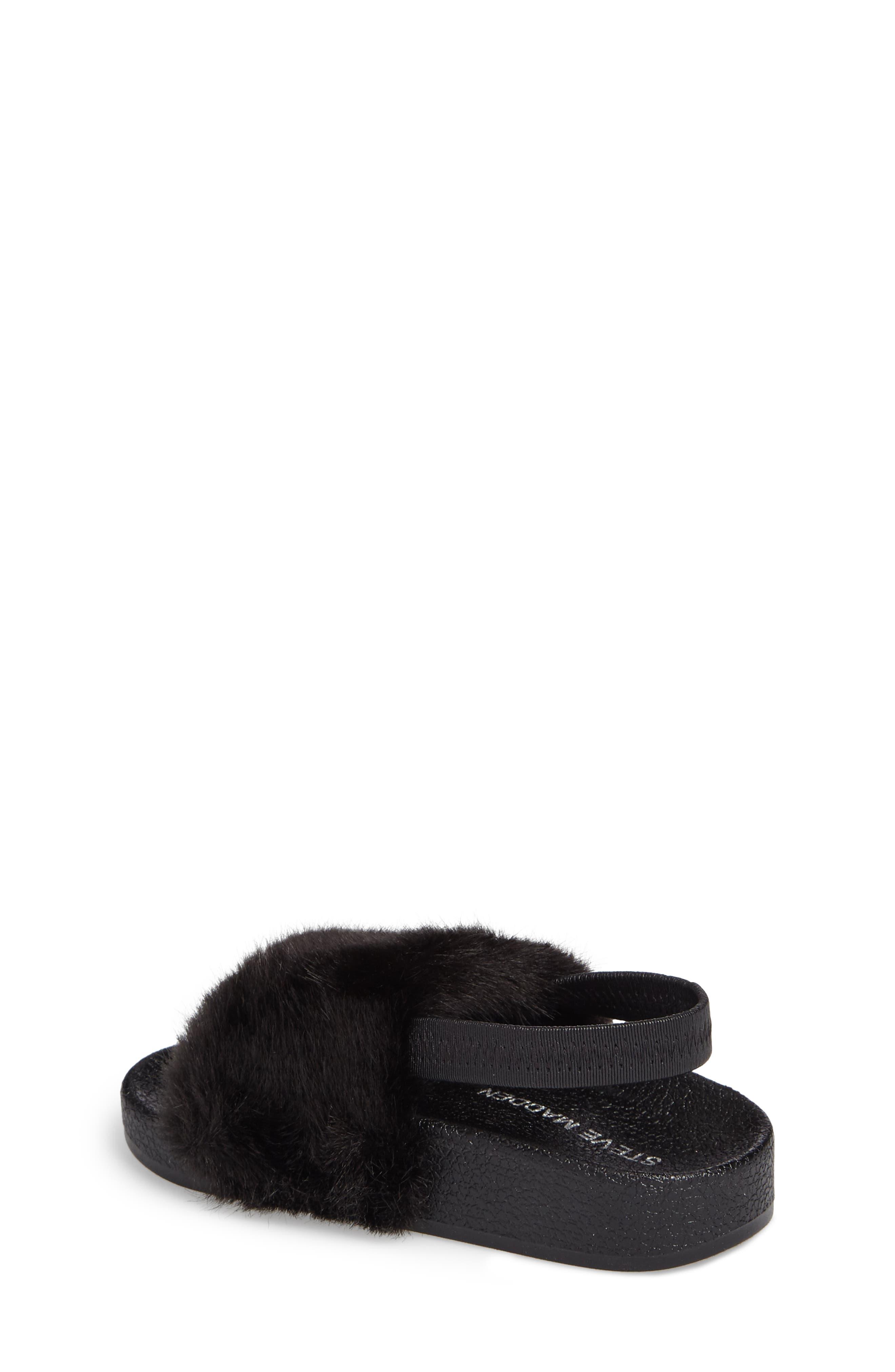 Tsoftey Faux Fur Slide Sandal,                             Alternate thumbnail 2, color,                             006