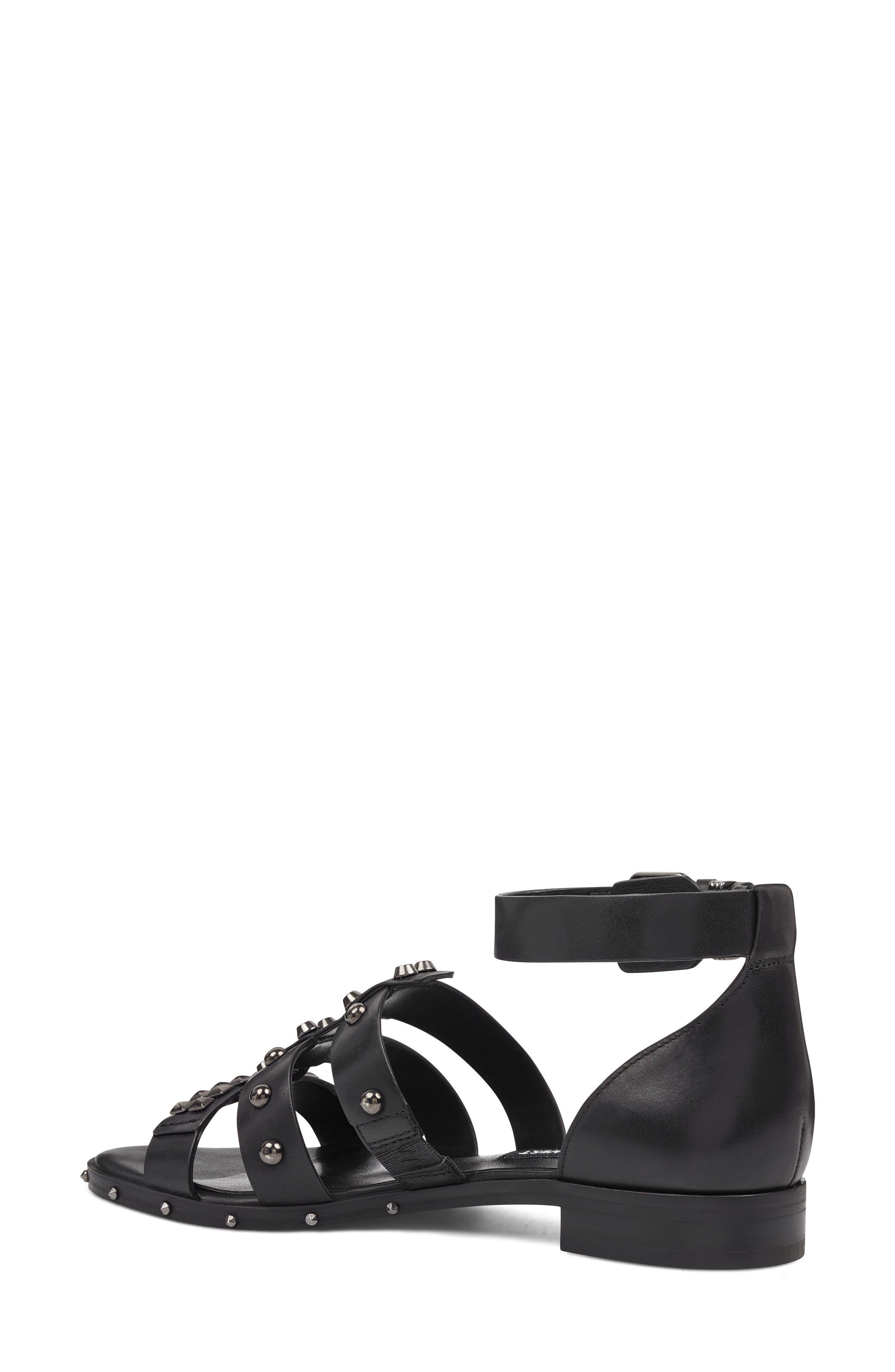 Corisande Sandal,                             Alternate thumbnail 2, color,                             BLACK LEATHER