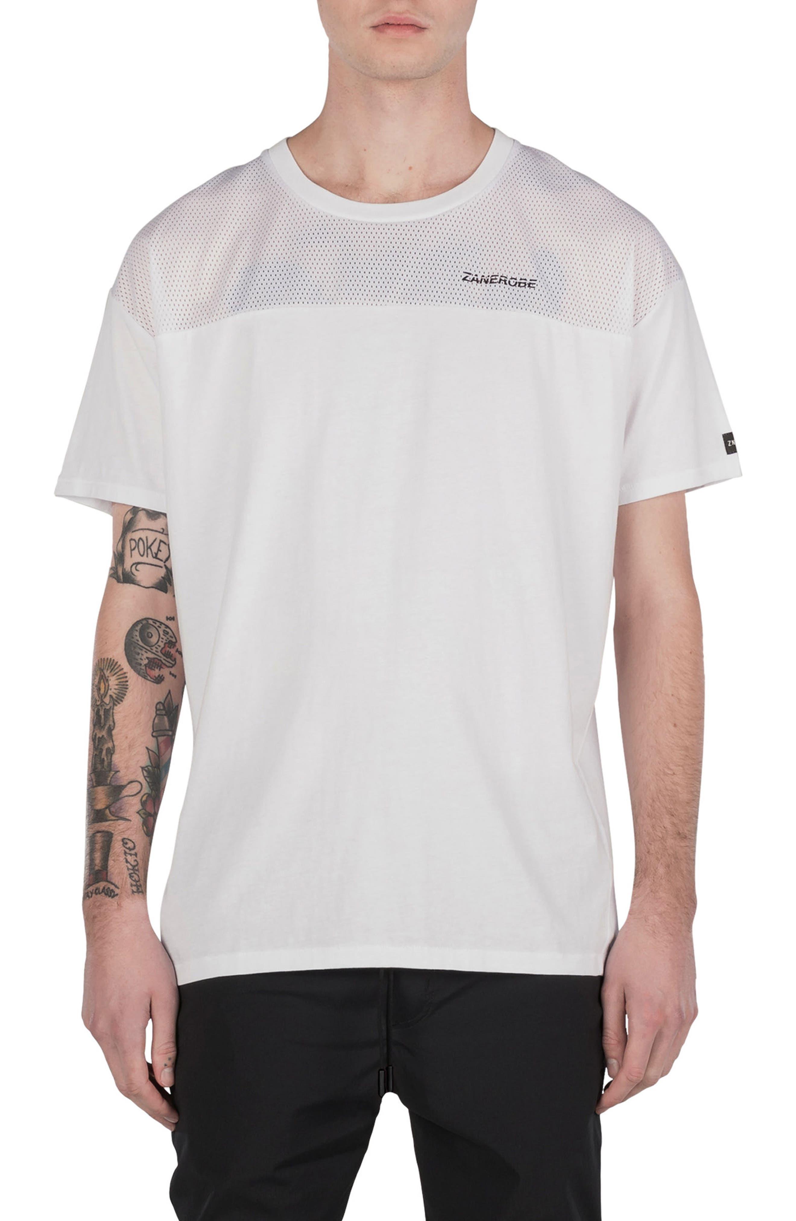 Mesh Rugger T-Shirt,                             Main thumbnail 1, color,                             100