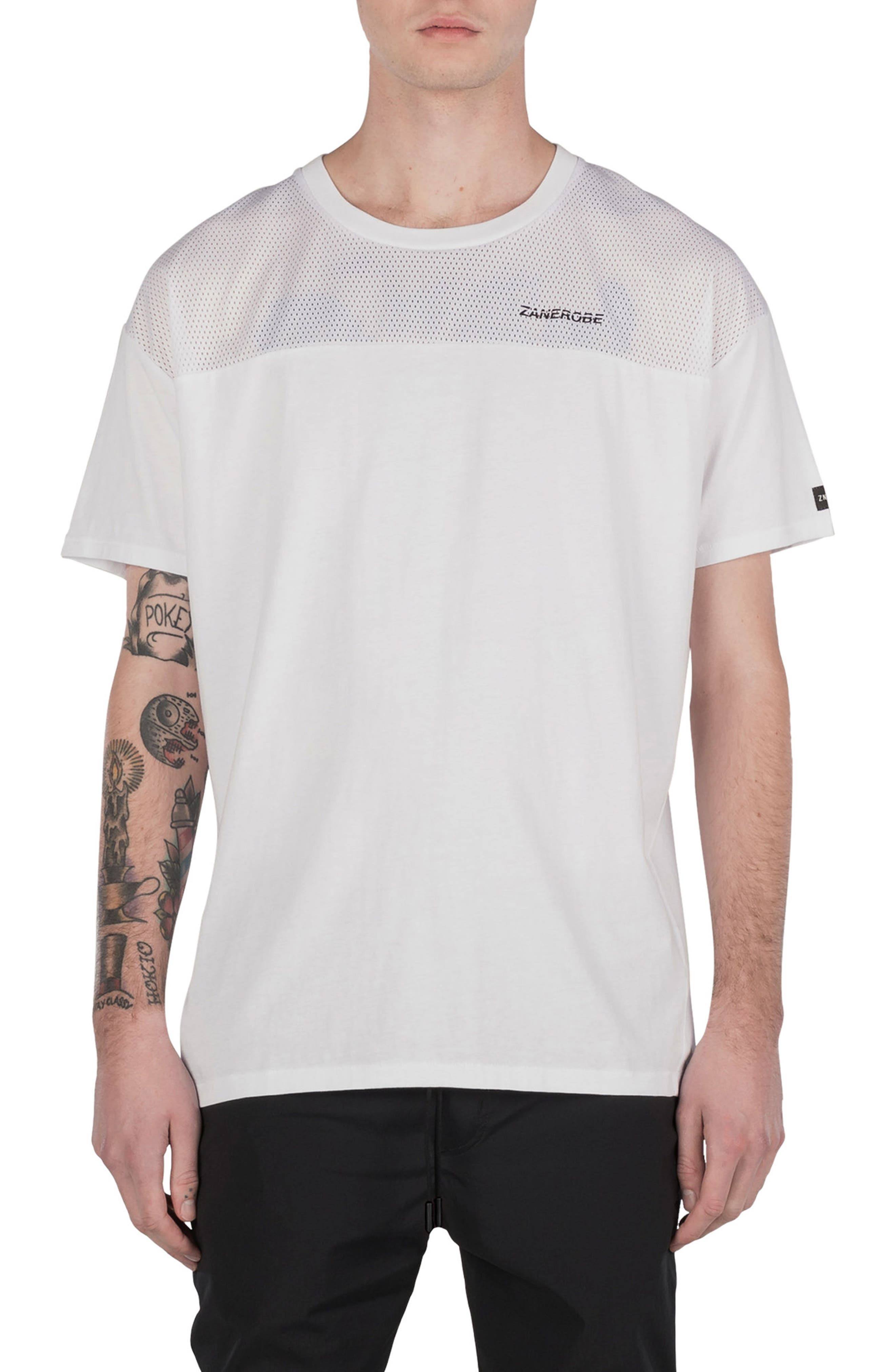 Mesh Rugger T-Shirt,                         Main,                         color, 100
