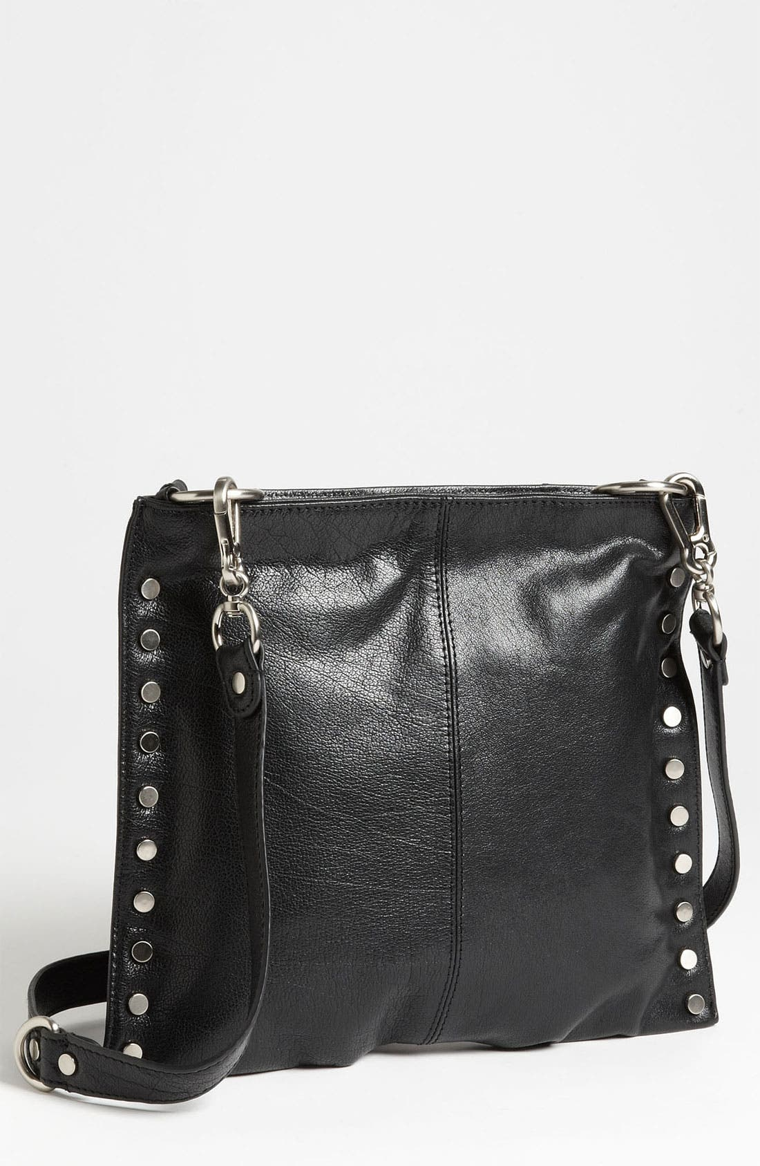 Sloane & Alex 'Angie' Leather Crossbody Bag,                             Main thumbnail 1, color,                             001