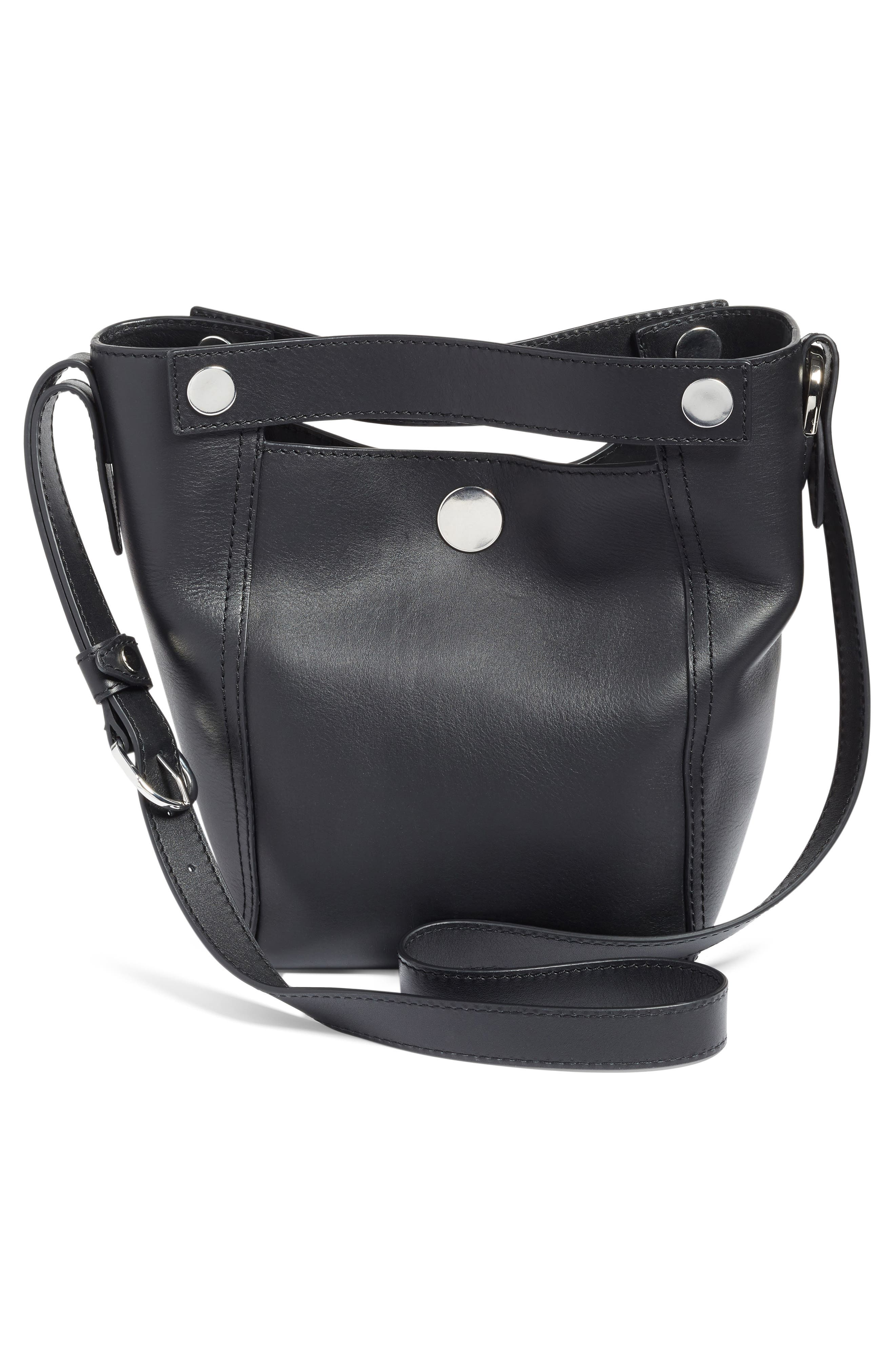 Small Dolly Leather Tote,                             Alternate thumbnail 3, color,                             001