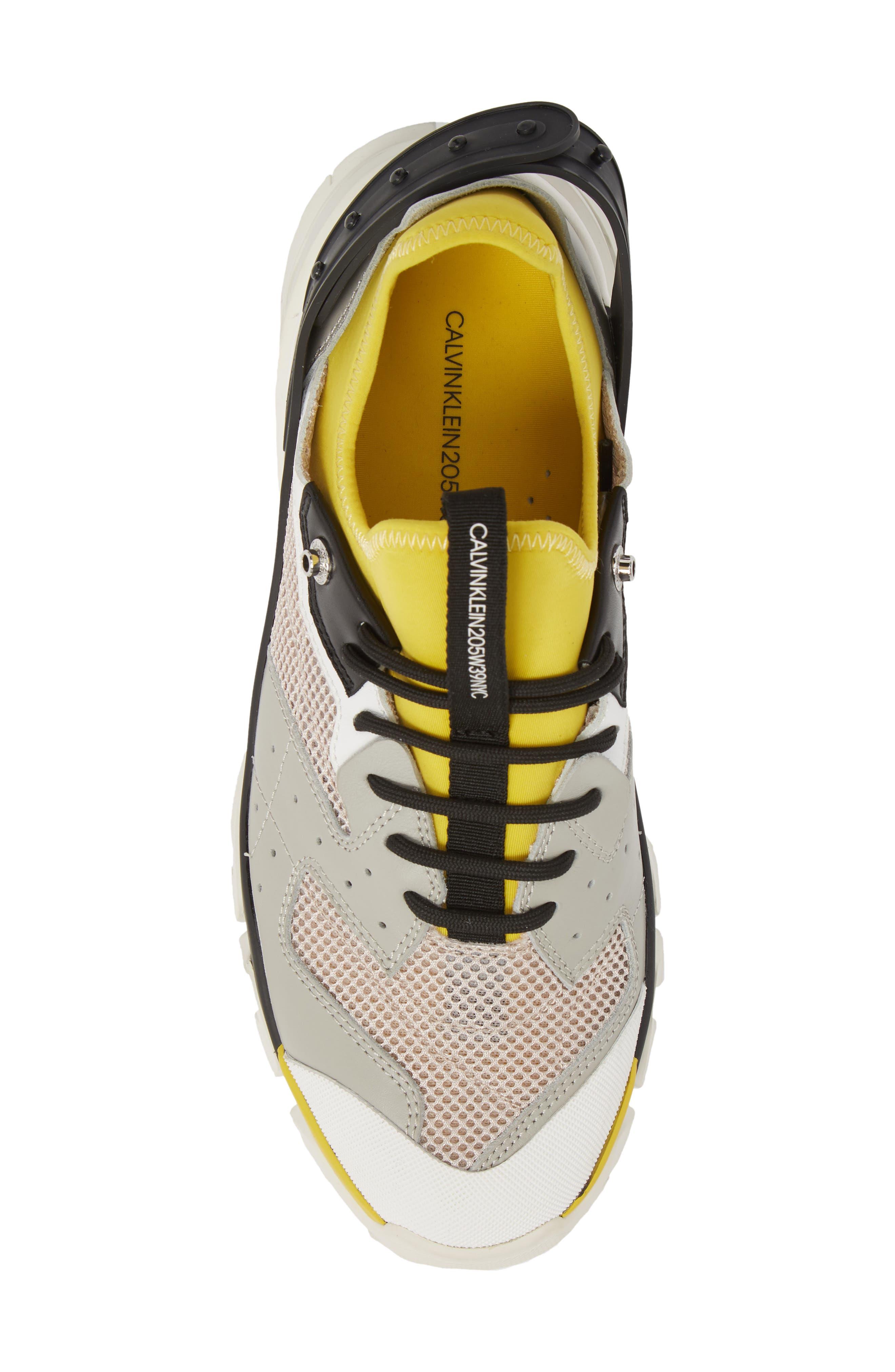 Carlos 10 Snapback Runner Sneaker,                             Alternate thumbnail 5, color,                             GREY/ YELLOW/ BLACK/ WHITE
