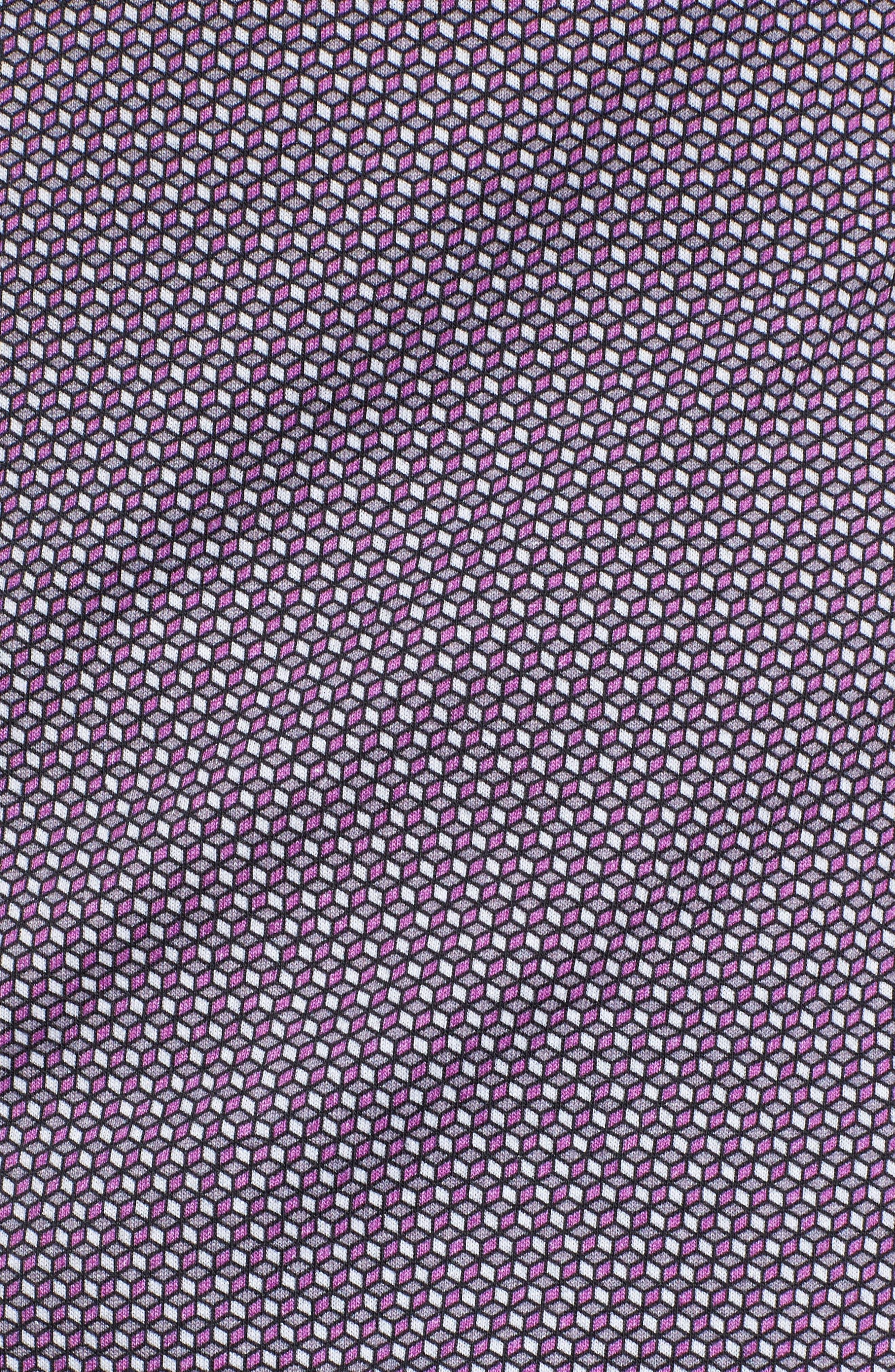 Geo Print Knit Sport Shirt,                             Alternate thumbnail 5, color,