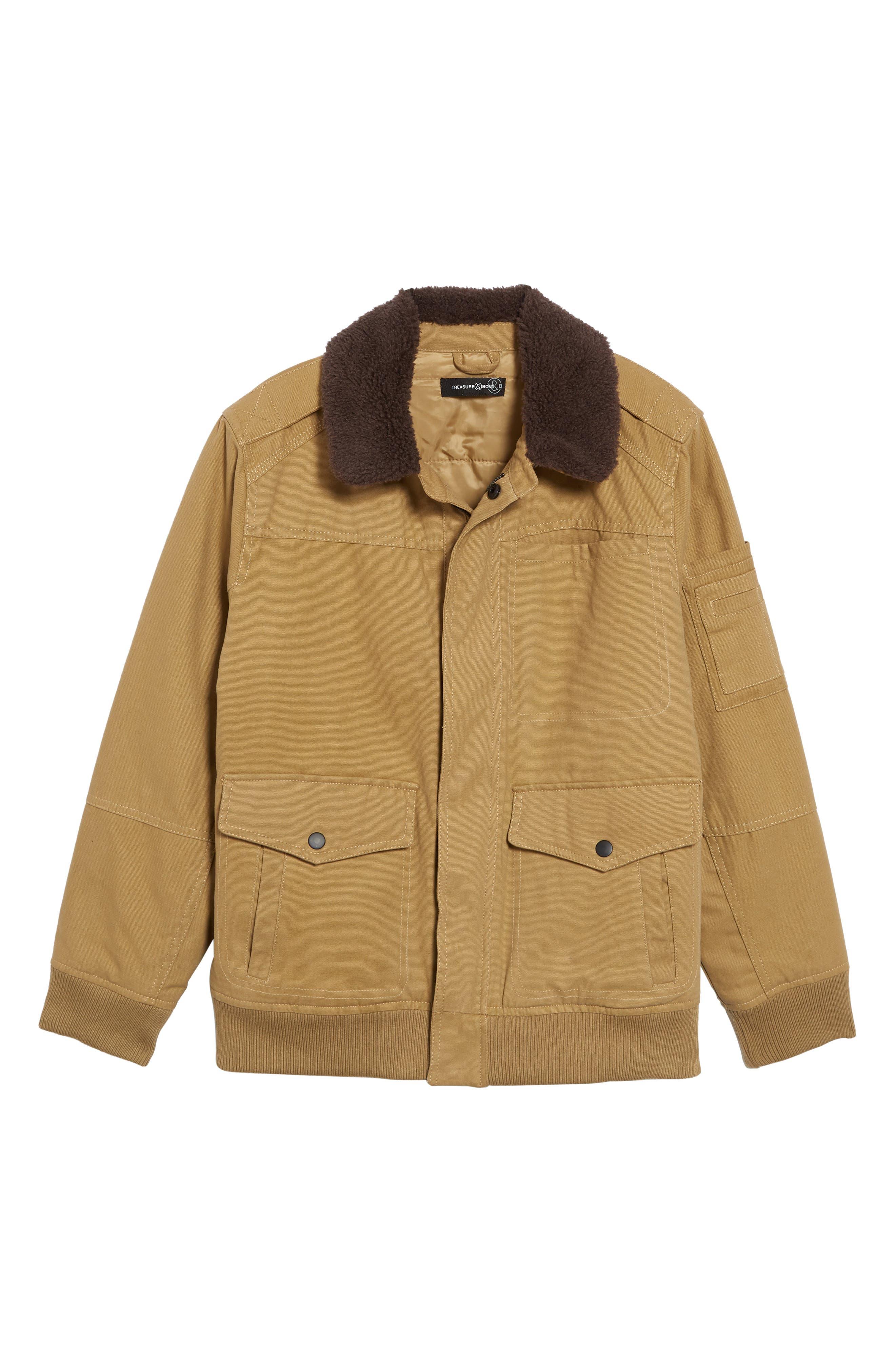 TREASURE & BOND Flight Jacket, Main, color, 235
