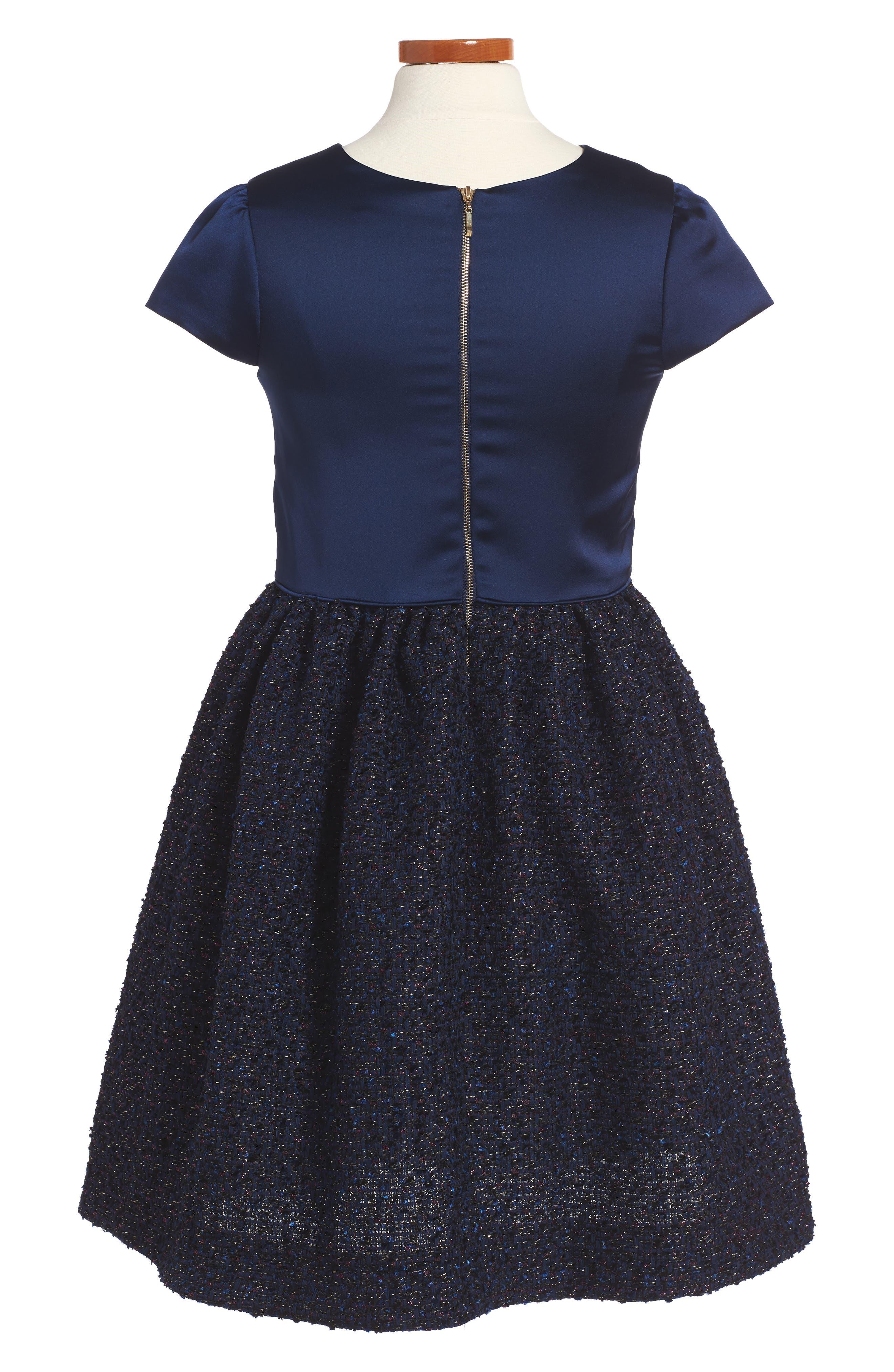 Satin Dress,                             Alternate thumbnail 2, color,                             410