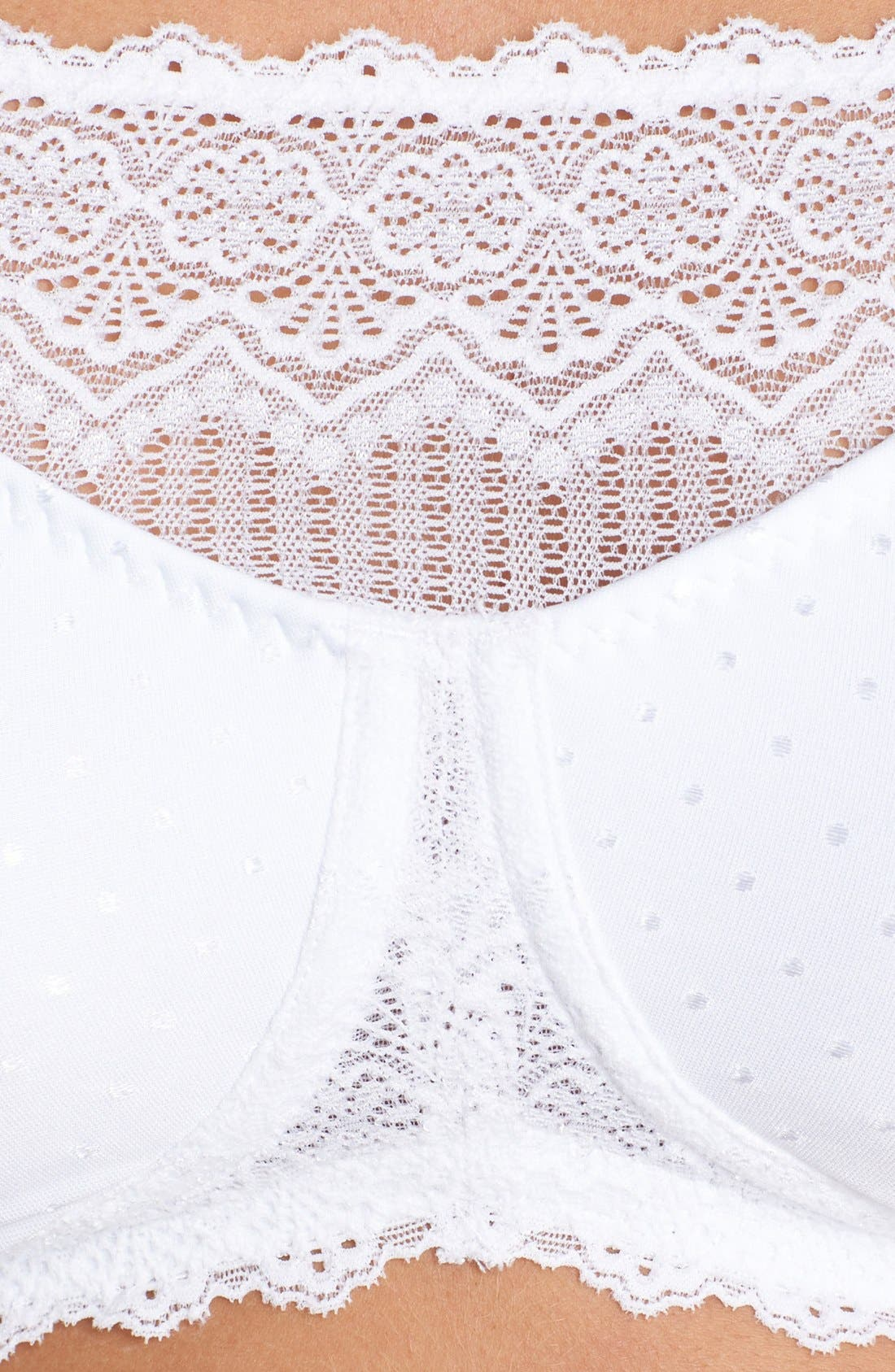 'Dana' Soft Cup Camisole Bra,                             Alternate thumbnail 5, color,                             WHITE