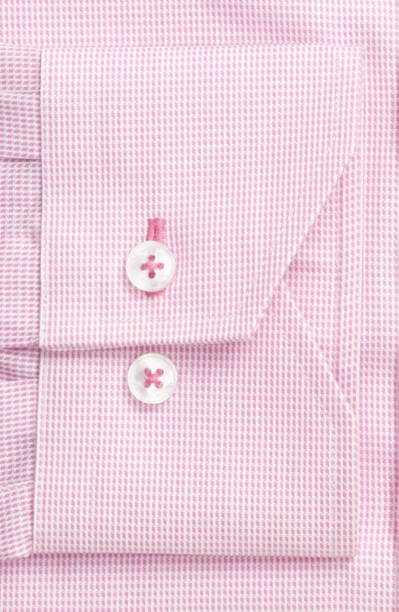 Trim Fit Solid Dress Shirt,                             Alternate thumbnail 4, color,                             680