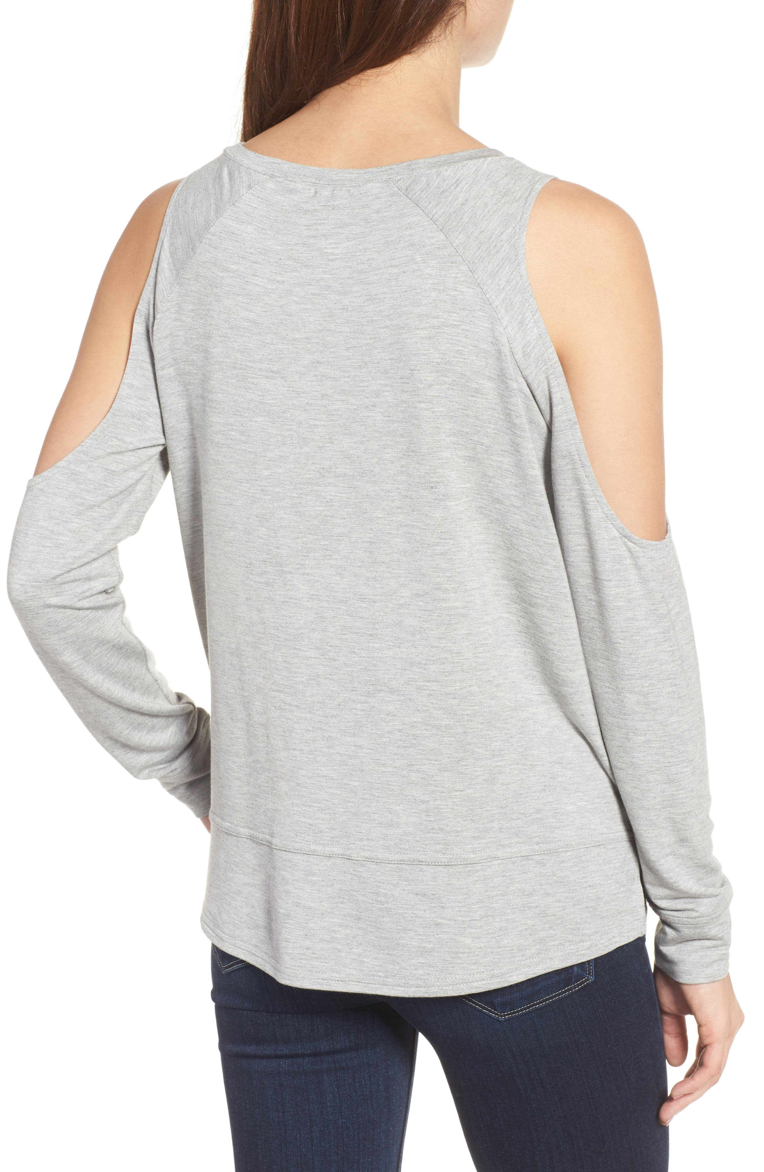 Mariam Cold Shoulder Tee,                             Alternate thumbnail 4, color,