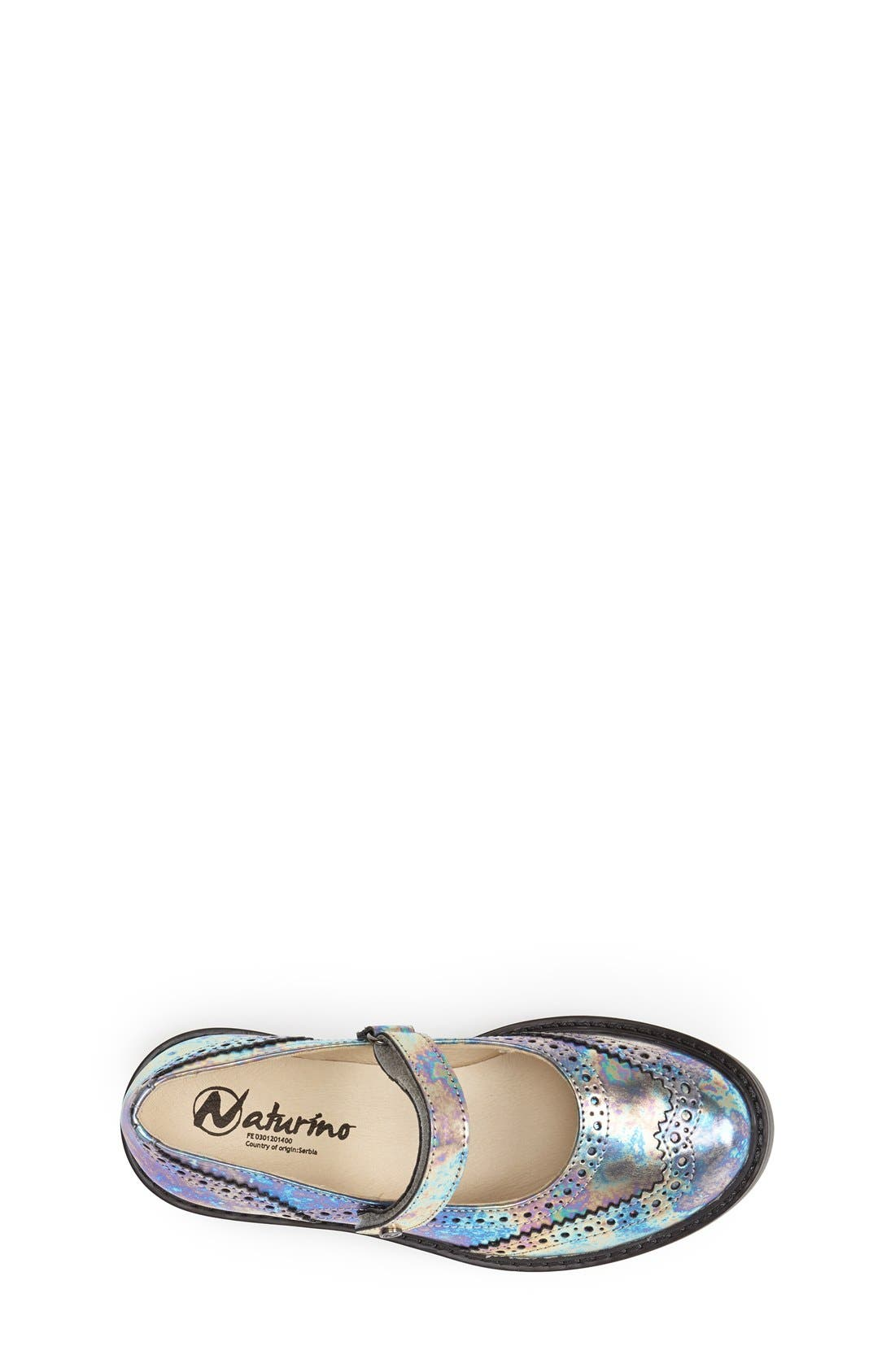 '4833' Leather Mary Jane Flat,                             Alternate thumbnail 4, color,                             040
