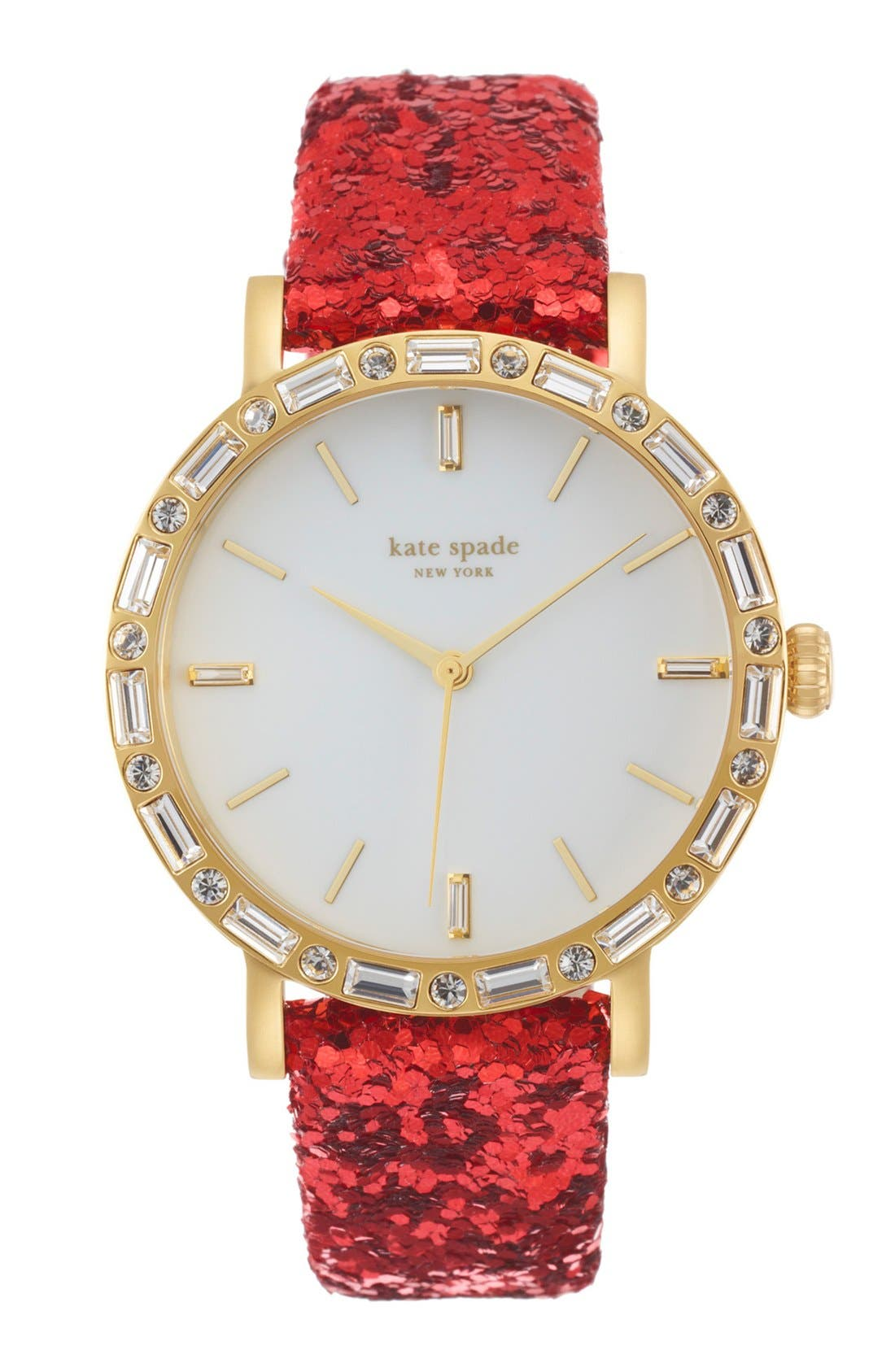 KATE SPADE NEW YORK,                             'metro' crystal bezel watch & straps set, 38mm,                             Alternate thumbnail 2, color,                             001