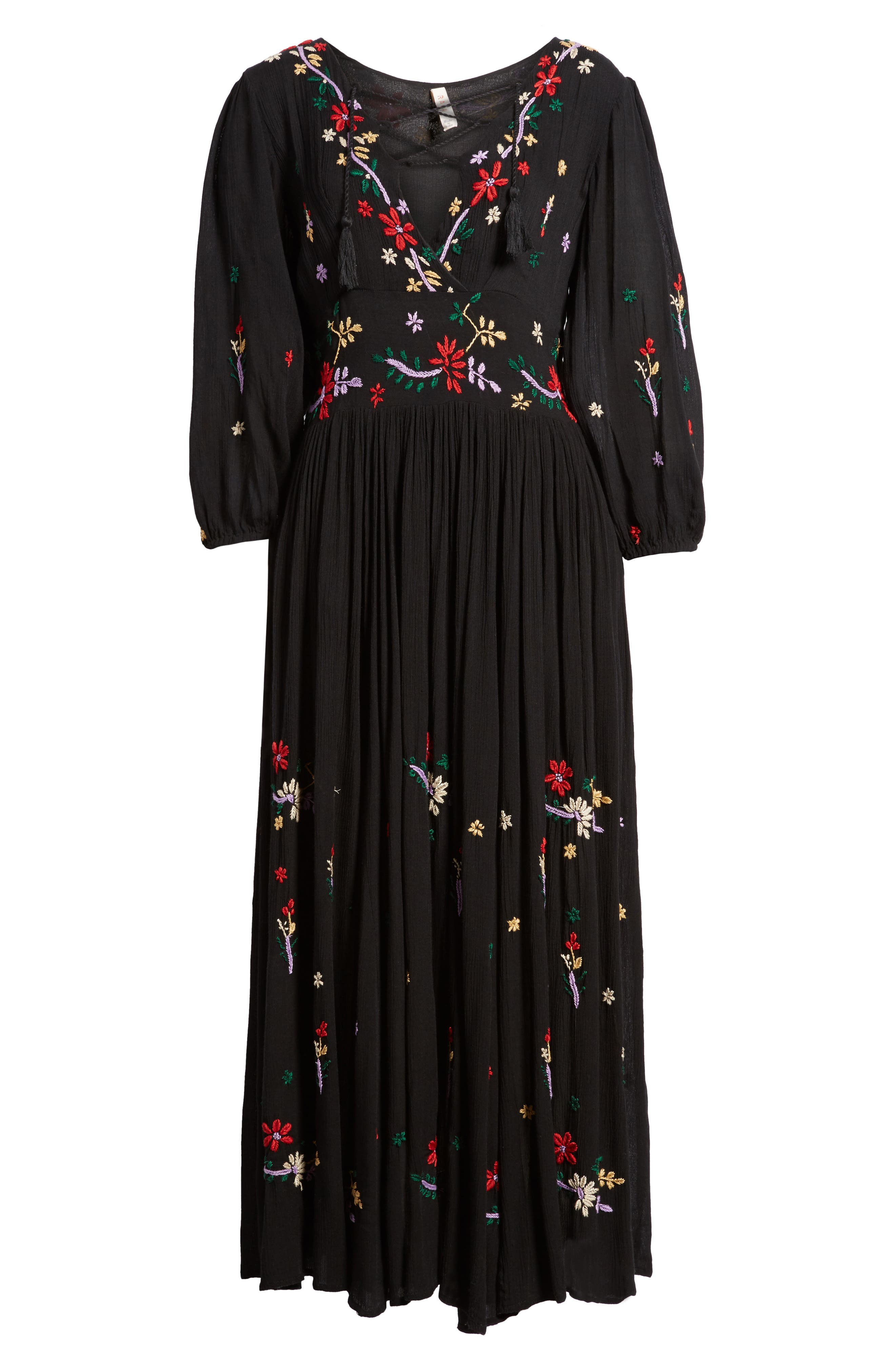 Sammy Embroidered Dress,                             Alternate thumbnail 6, color,                             001