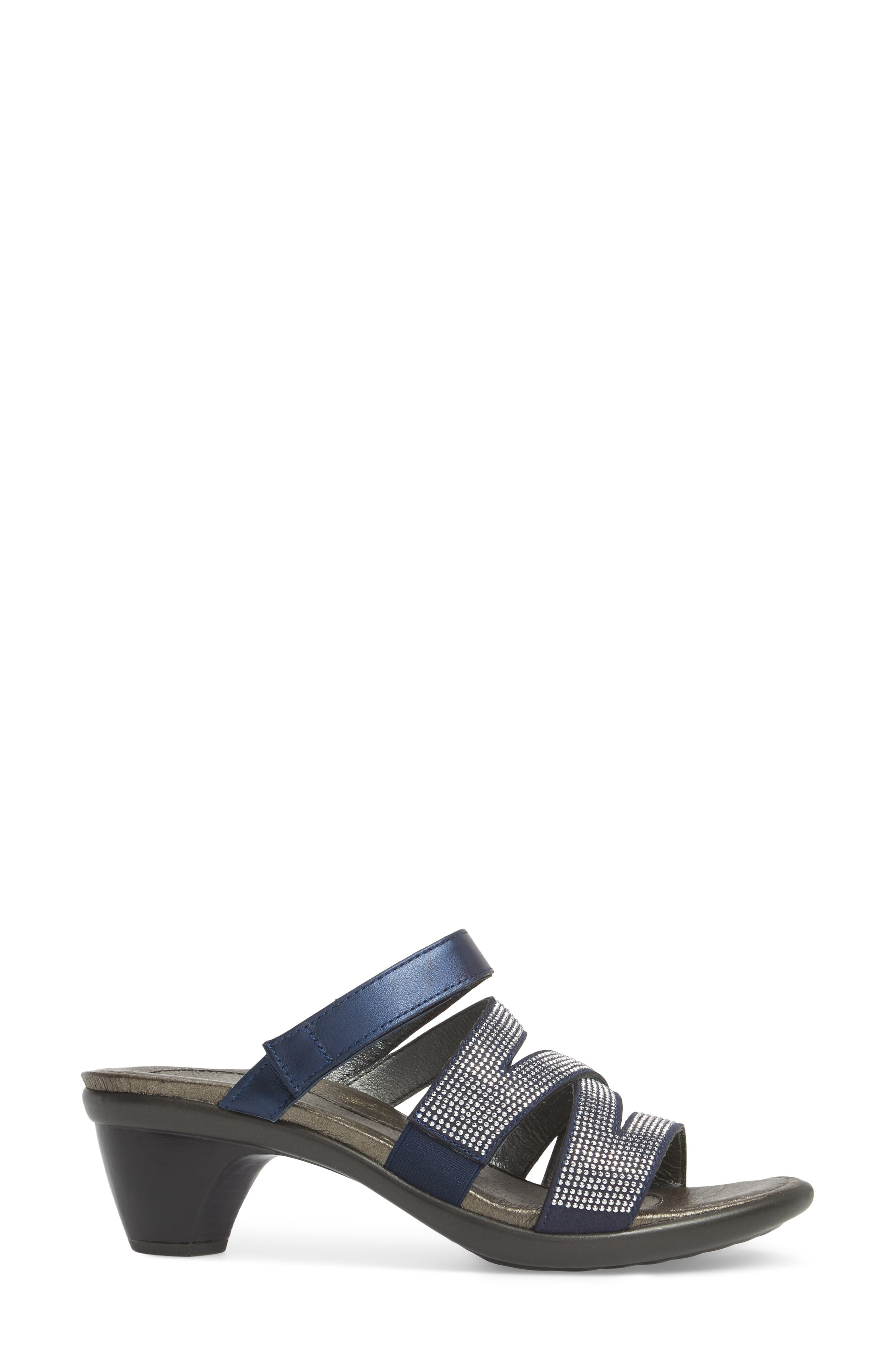 Formal Sandal,                             Alternate thumbnail 3, color,                             DARK BLUE LEATHER