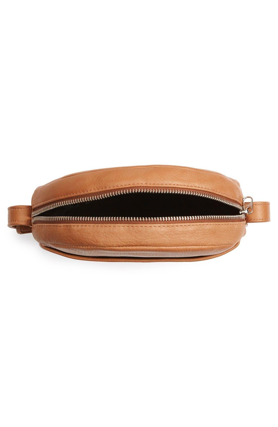 Pebbled Leather Crossbody Bag,                             Alternate thumbnail 16, color,