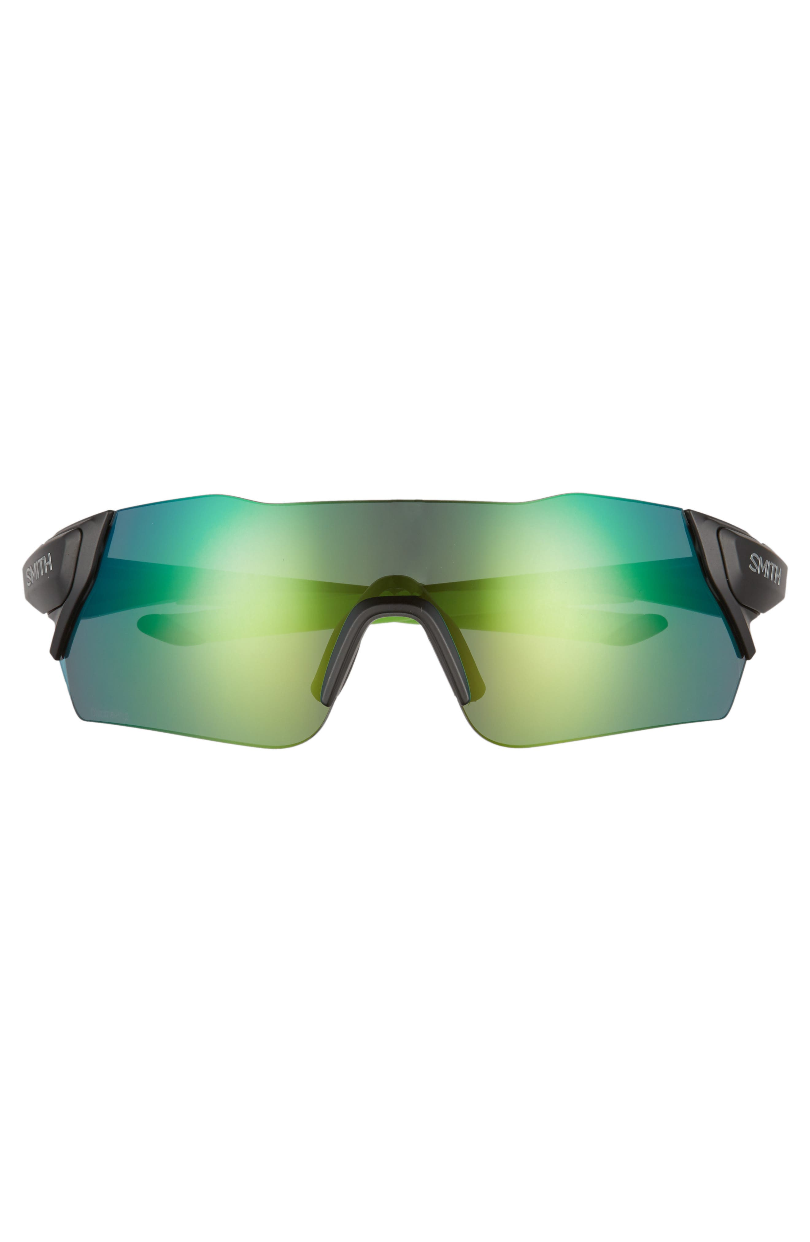 Attack 130mm ChromaPop<sup>™</sup> Shield Sunglasses,                             Alternate thumbnail 2, color,                             MATTE BLACK REACTOR