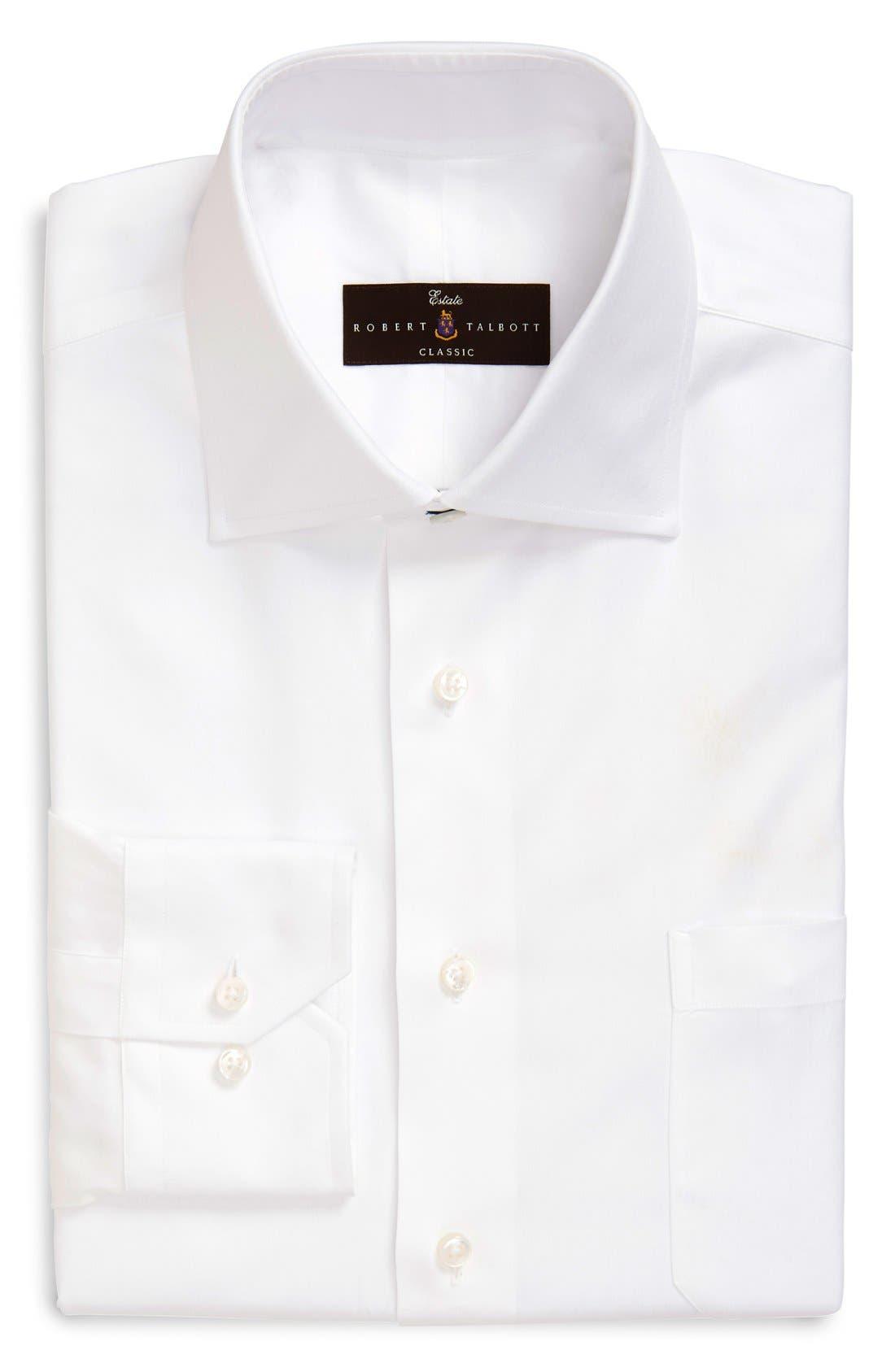 Classic Fit Solid Dress Shirt,                         Main,                         color, 110