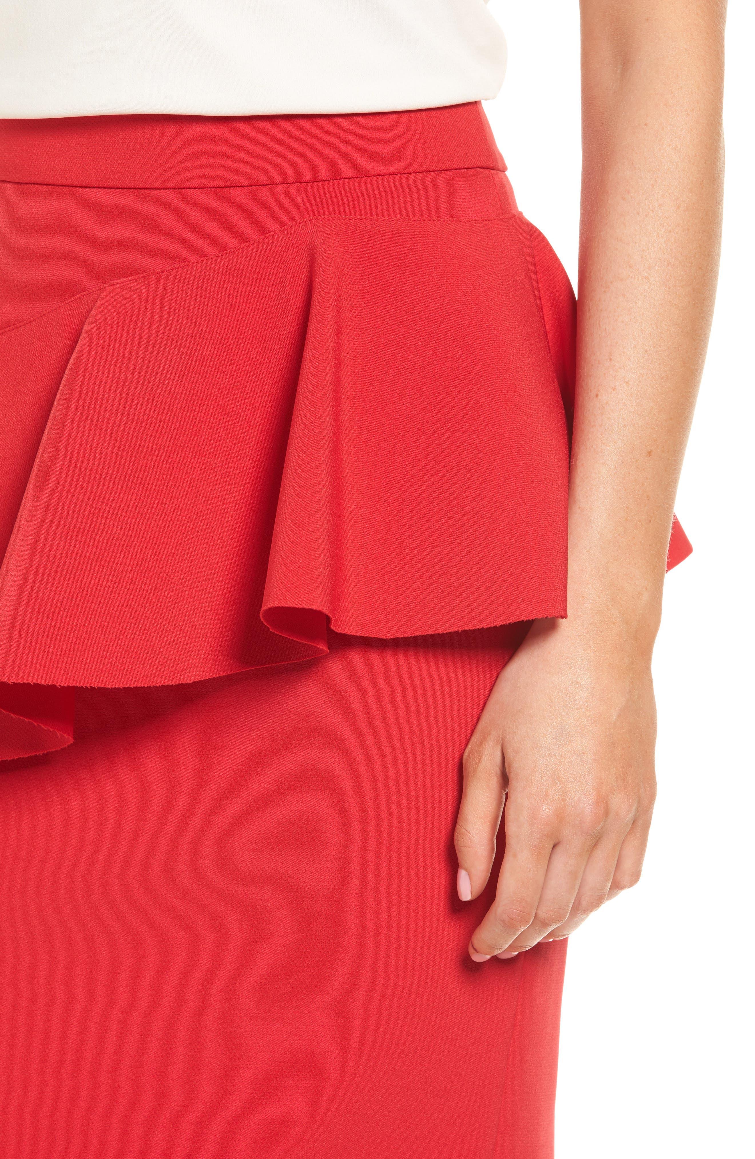 Ruffle Detail Pencil Skirt,                             Alternate thumbnail 8, color,