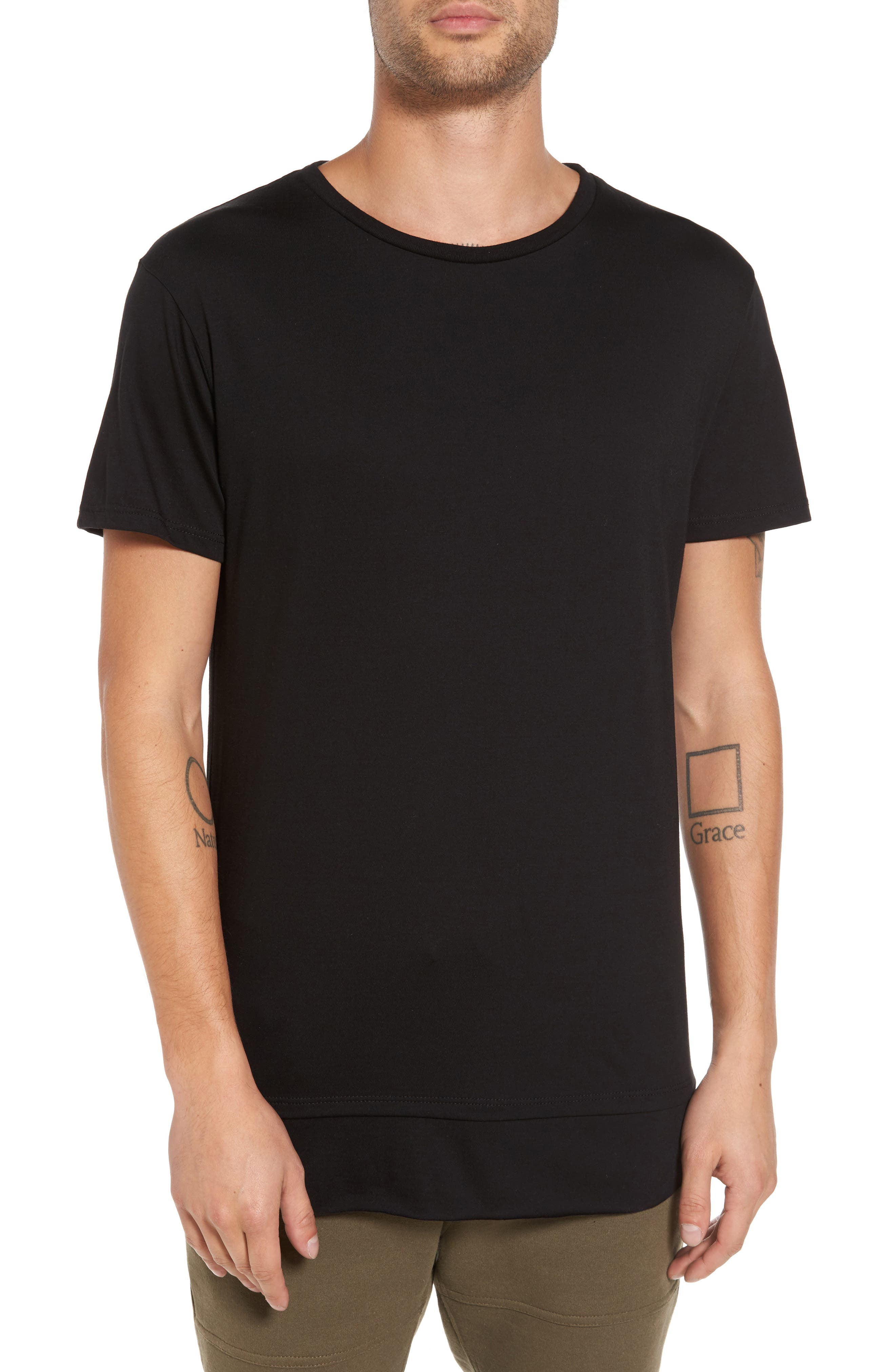 Double Layer T-Shirt,                         Main,                         color, 001
