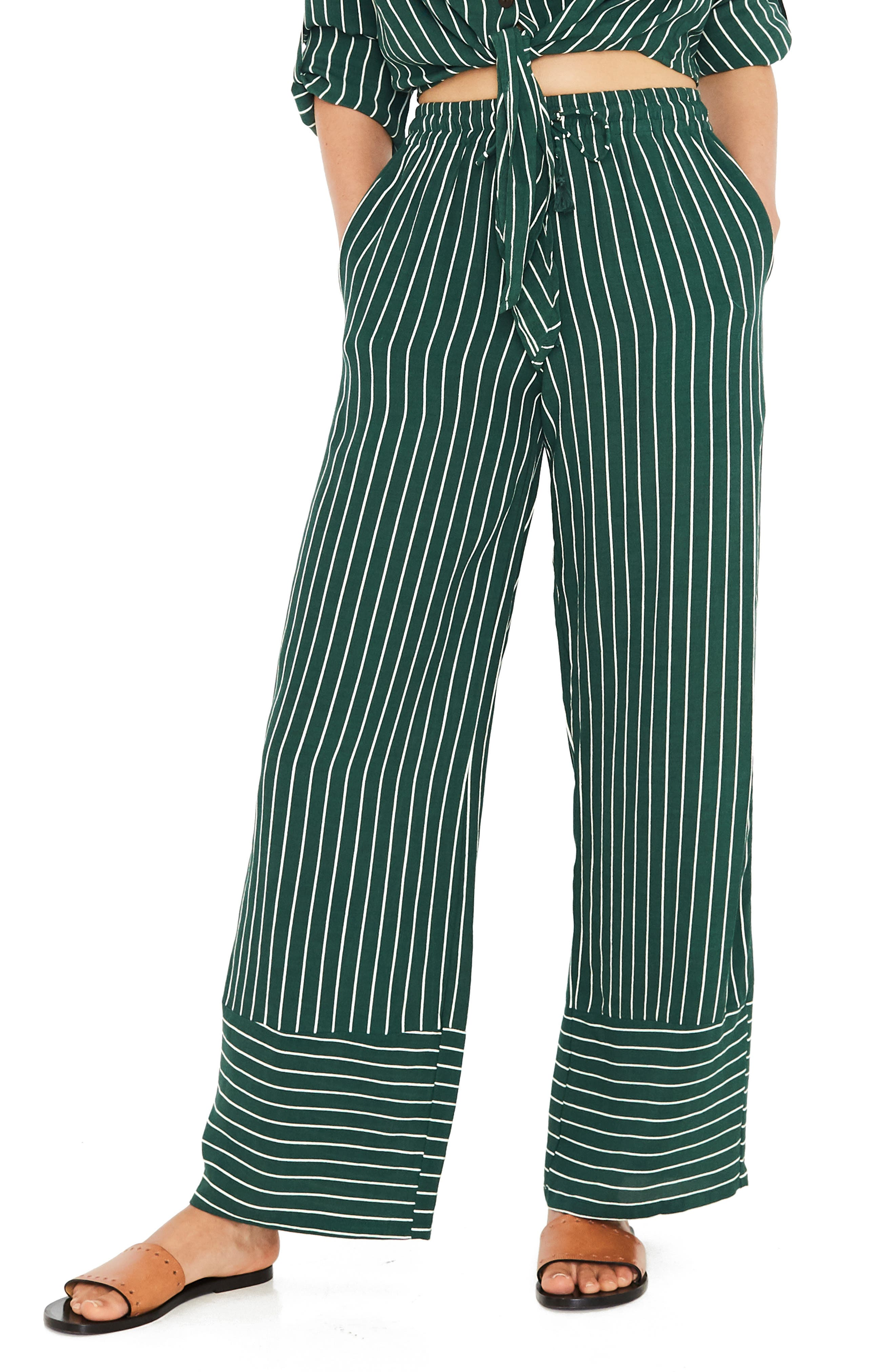 Havana High Waist Stripe Pants,                             Main thumbnail 1, color,                             PASEO STRIPE