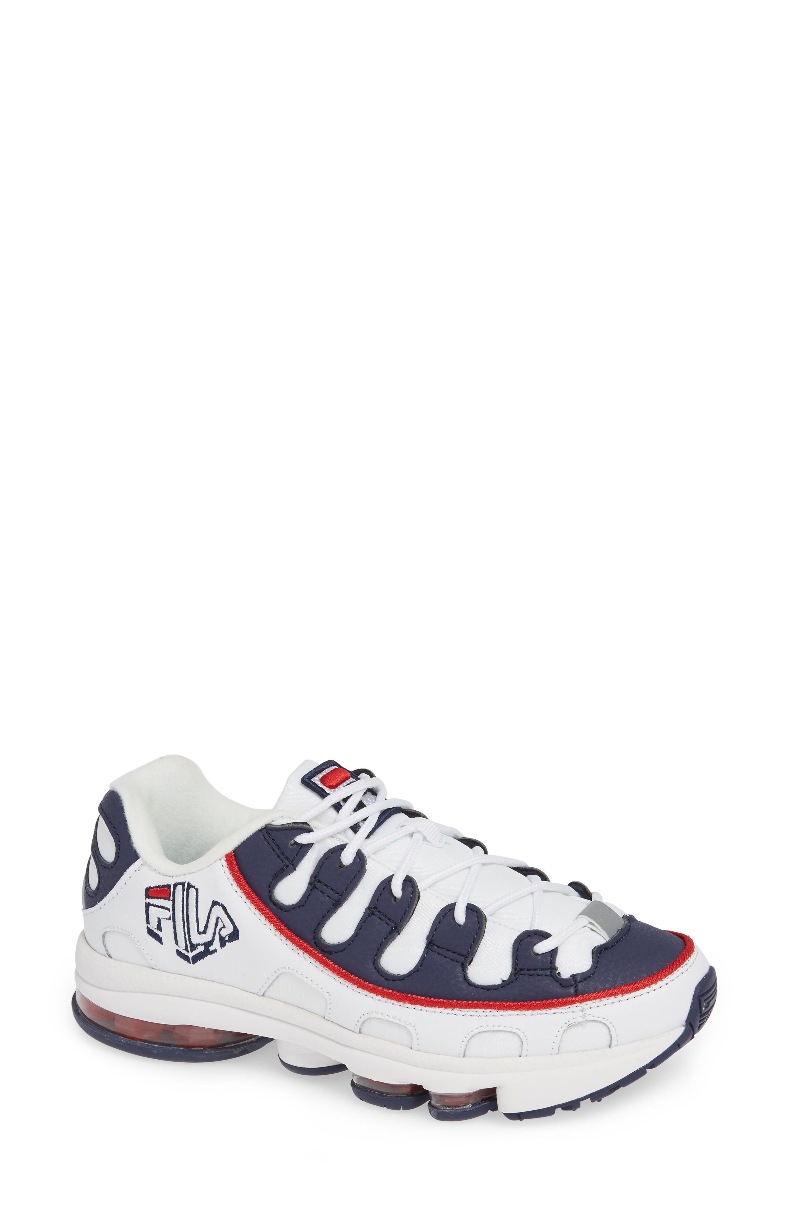 Silva Trainer Sneaker, Main, color, WHITE/ NAVY/ RED