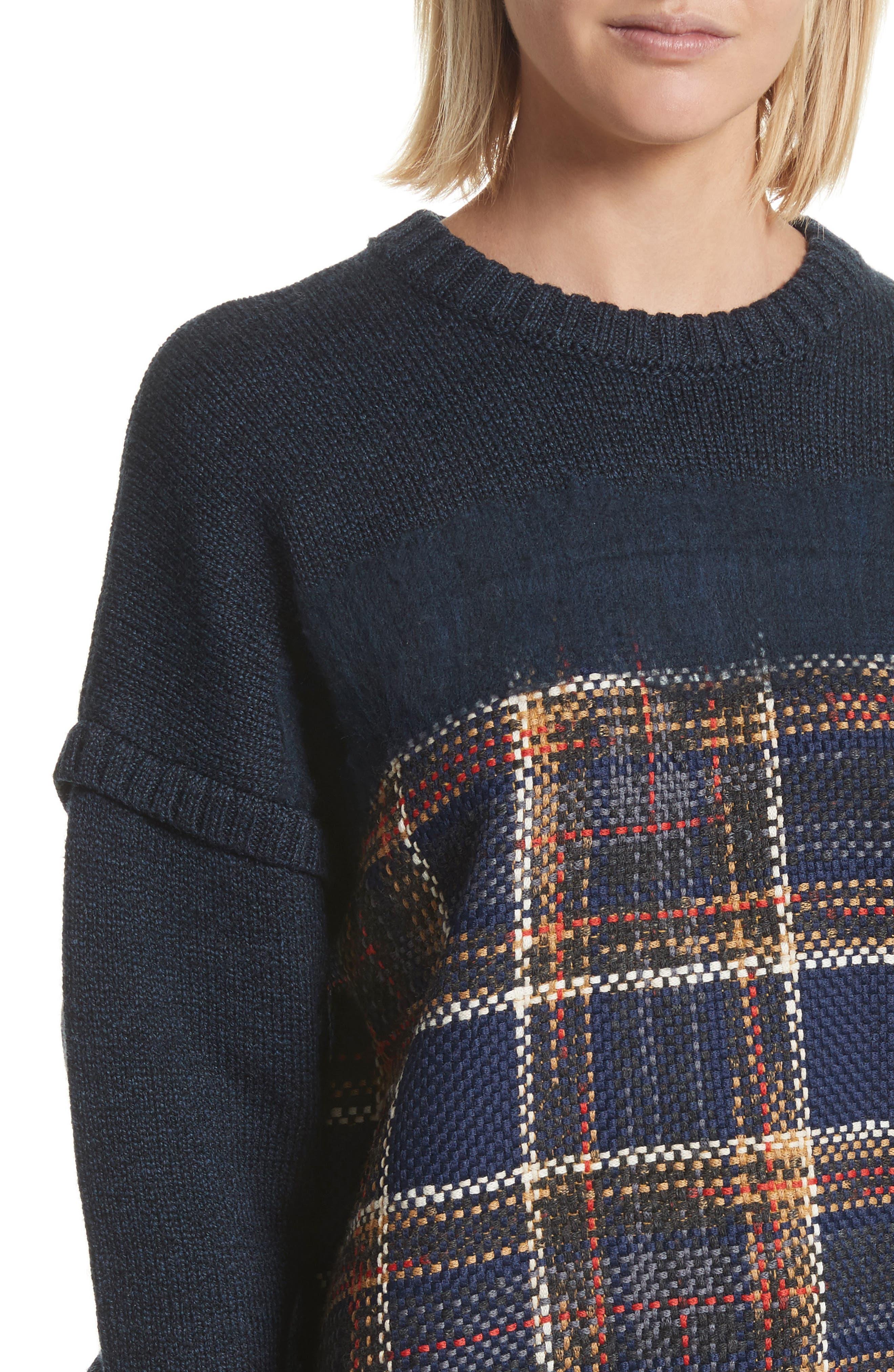 Oversize Sweatshirt,                             Alternate thumbnail 4, color,                             493