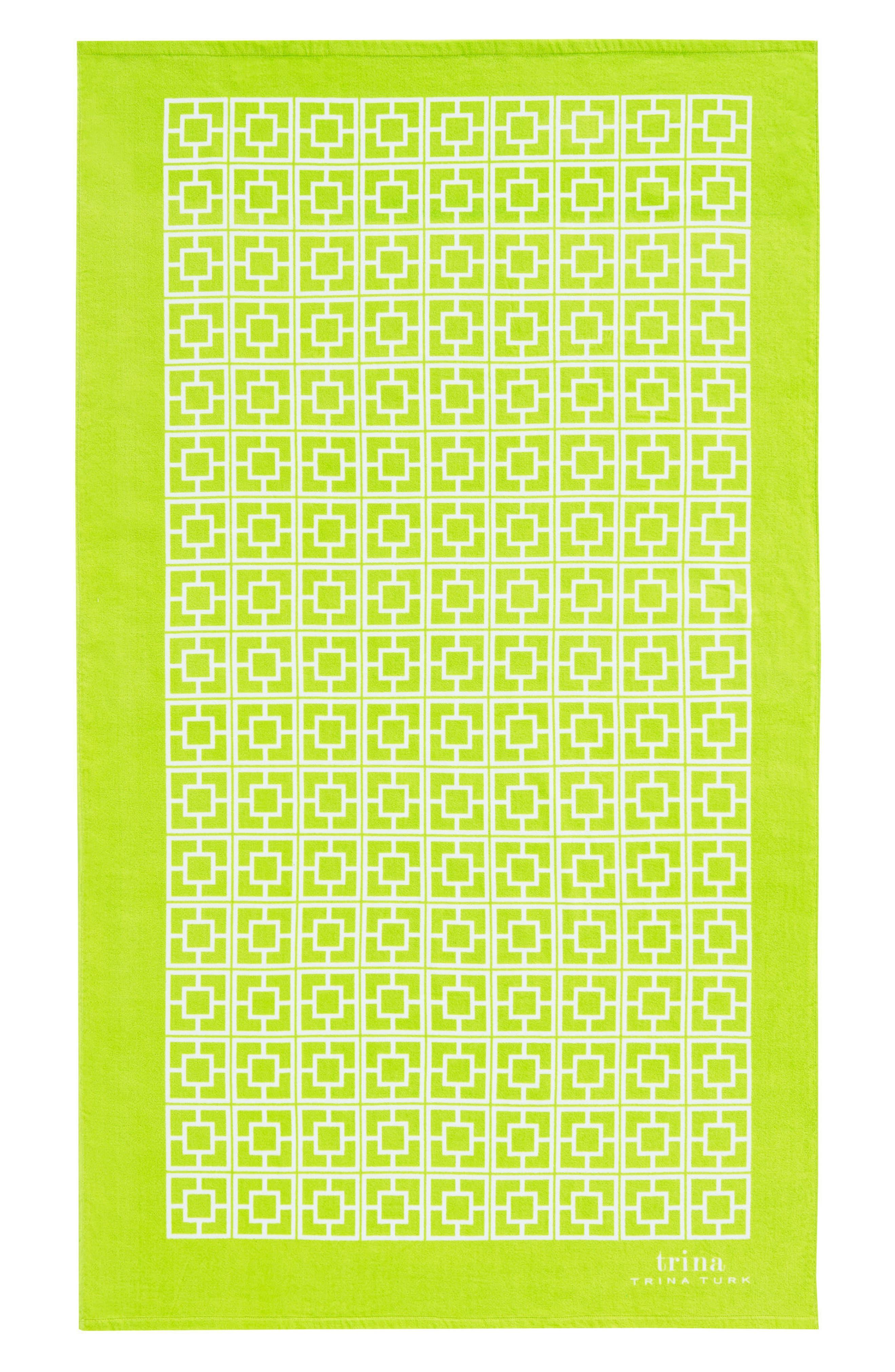 Palm Spring Block Beach Towel,                             Main thumbnail 1, color,
