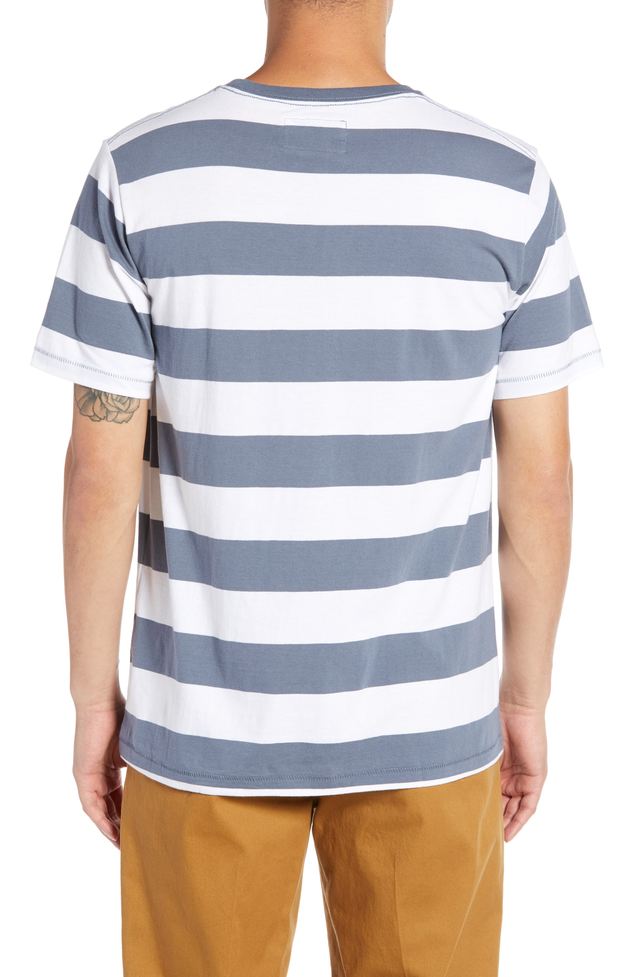 Embroidered Cools Club Stripe T-Shirt,                             Alternate thumbnail 2, color,                             NAVY STRIPE