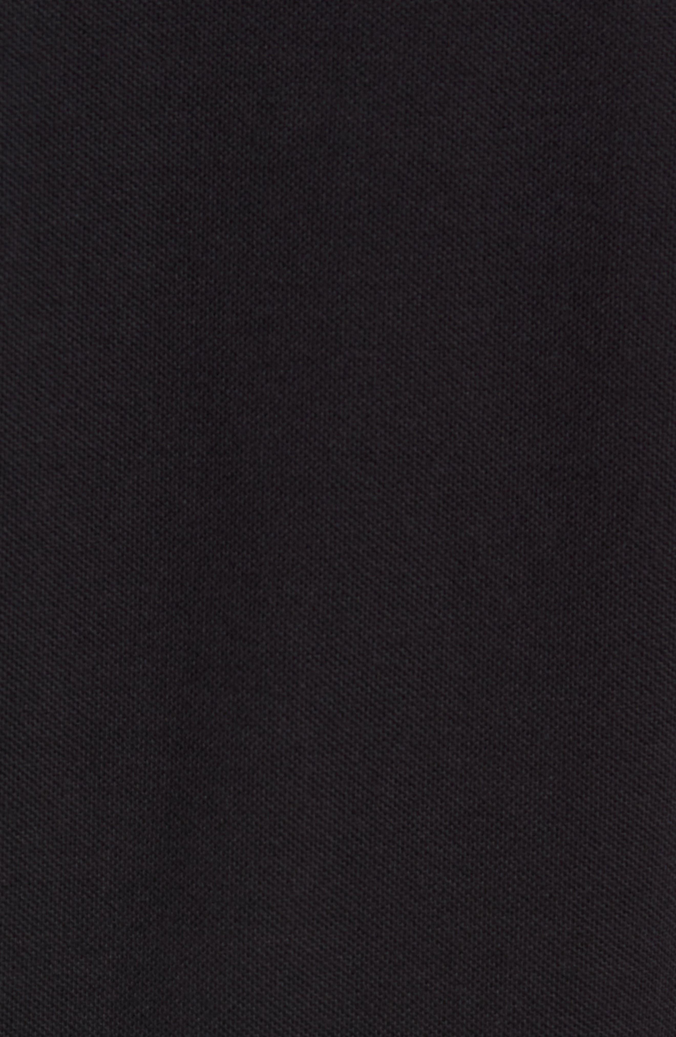 Long Sleeve Piqué T-Shirt,                             Alternate thumbnail 5, color,                             BLACK / CHAMPAGNE
