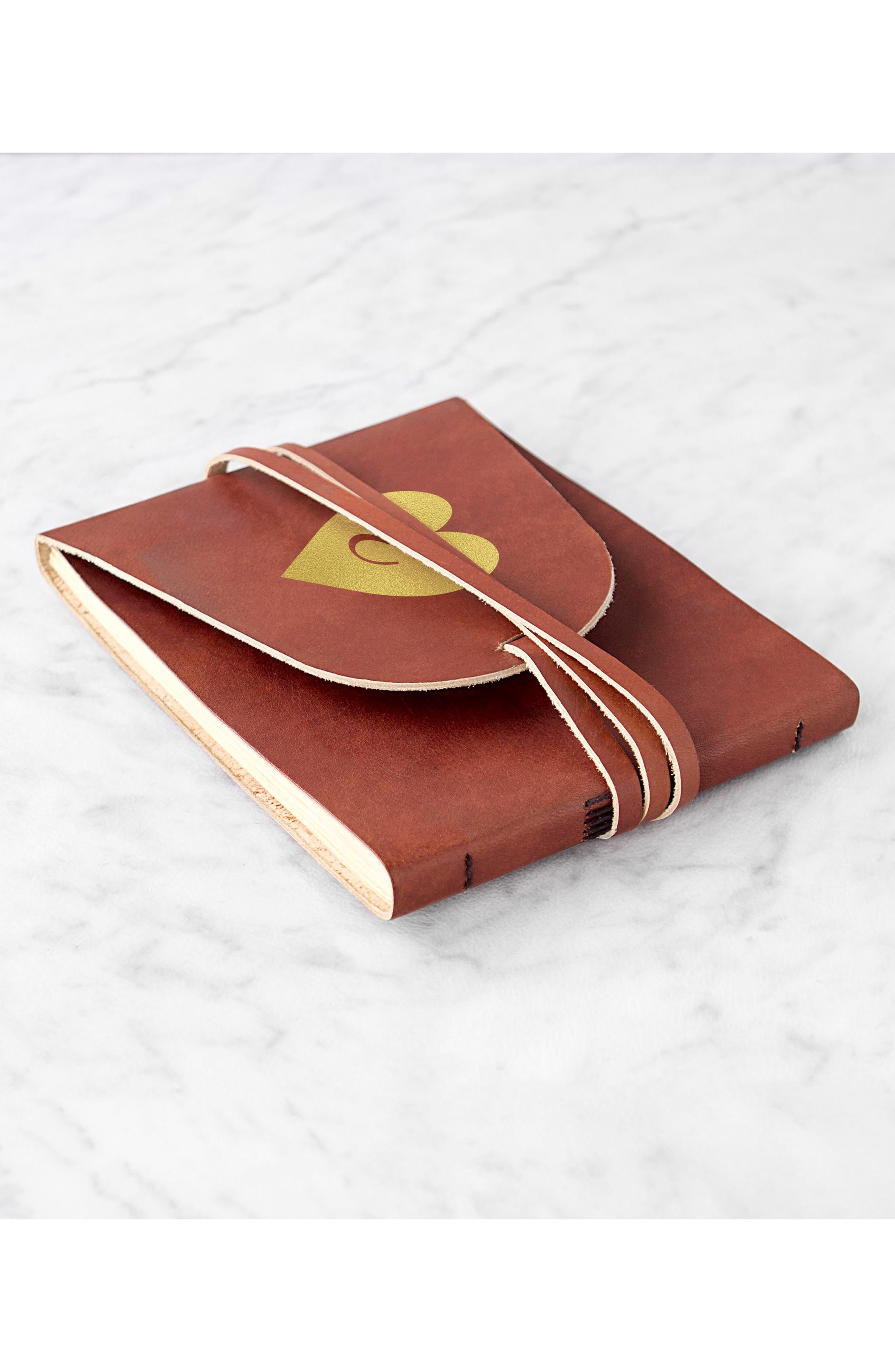 Monogram Leather Guest Book,                             Alternate thumbnail 9, color,                             710