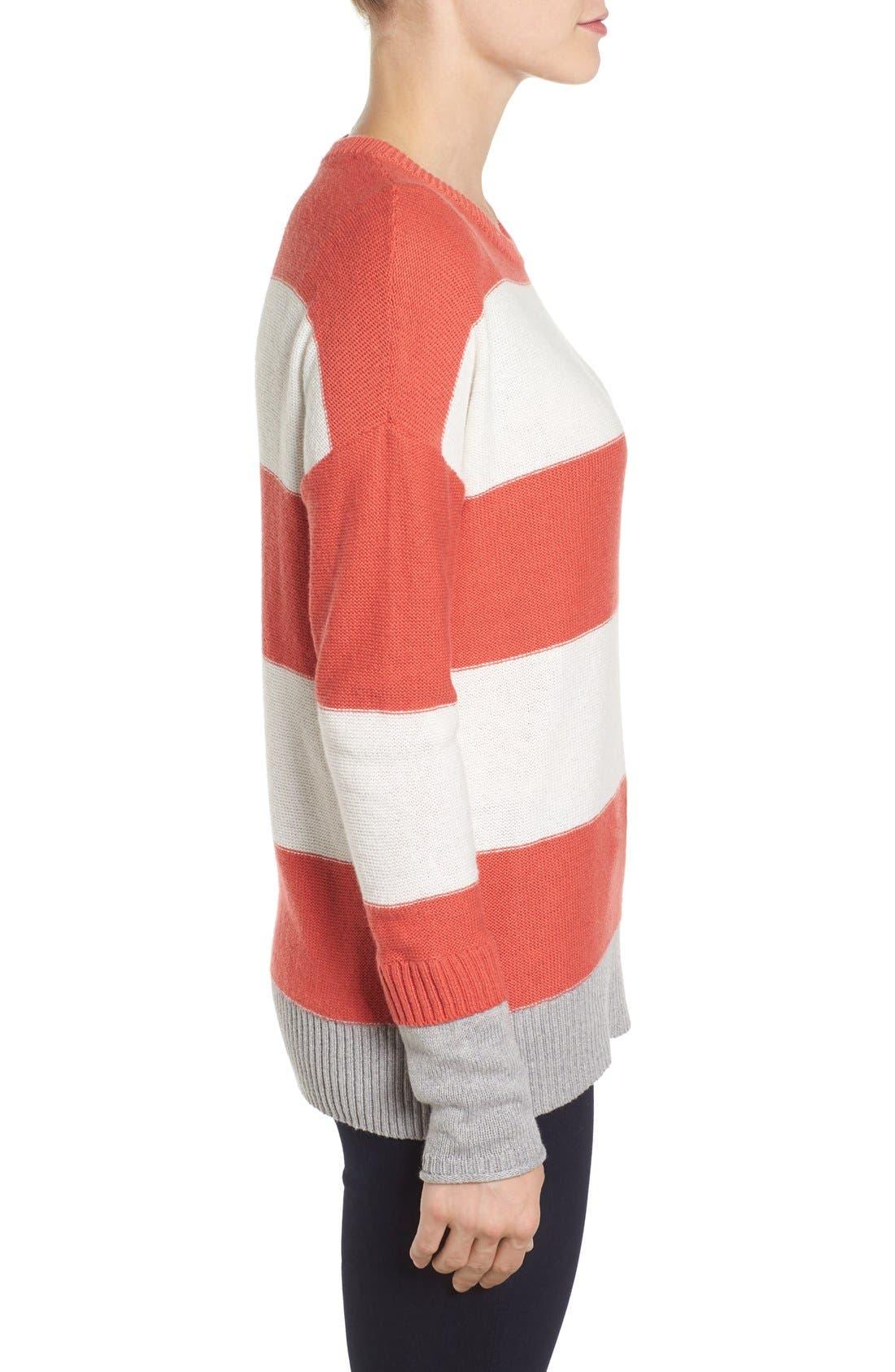 Contrast Cuff Crewneck Sweater,                             Alternate thumbnail 31, color,
