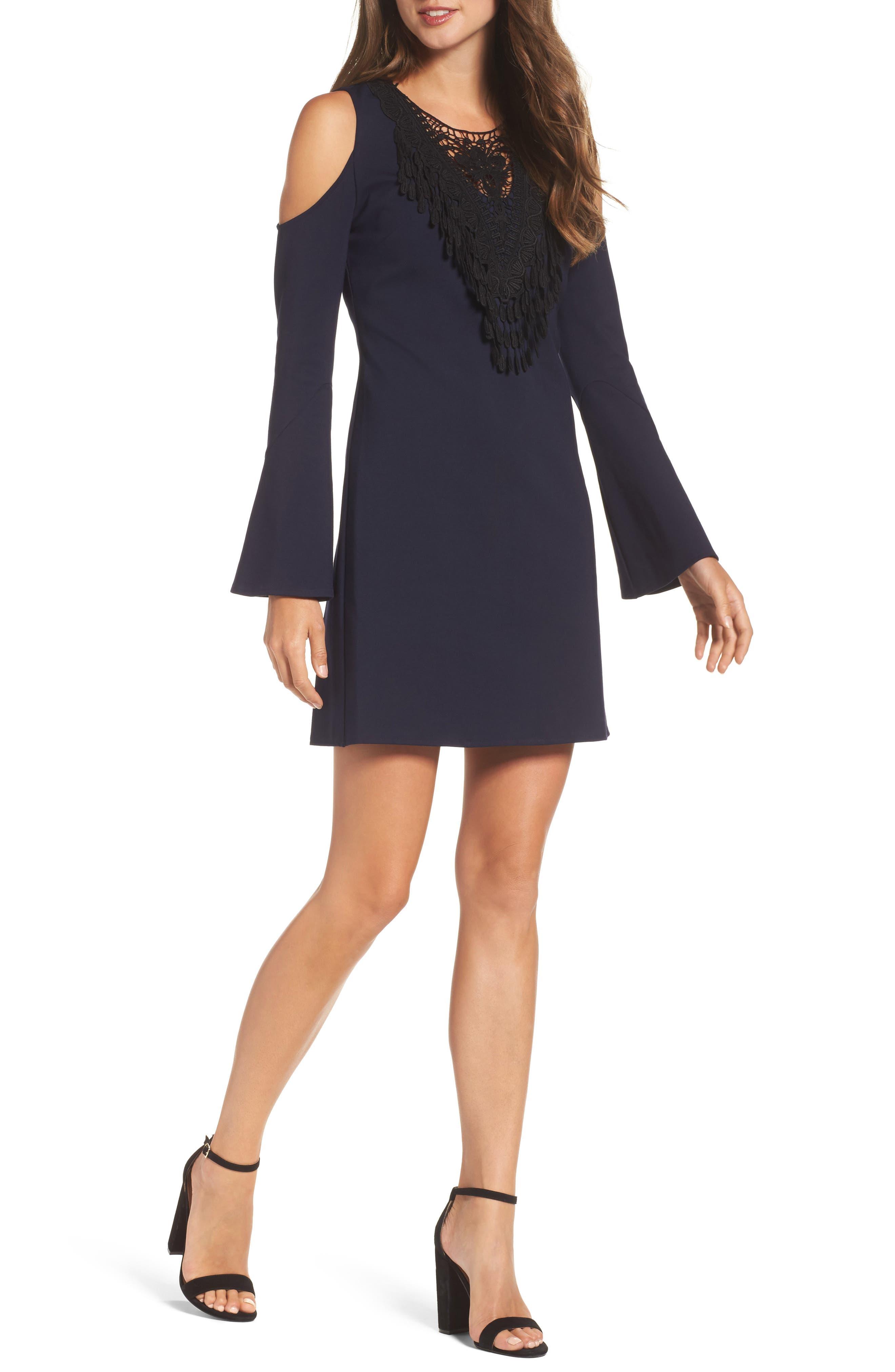Brie Double Knit Shift Dress,                             Main thumbnail 2, color,