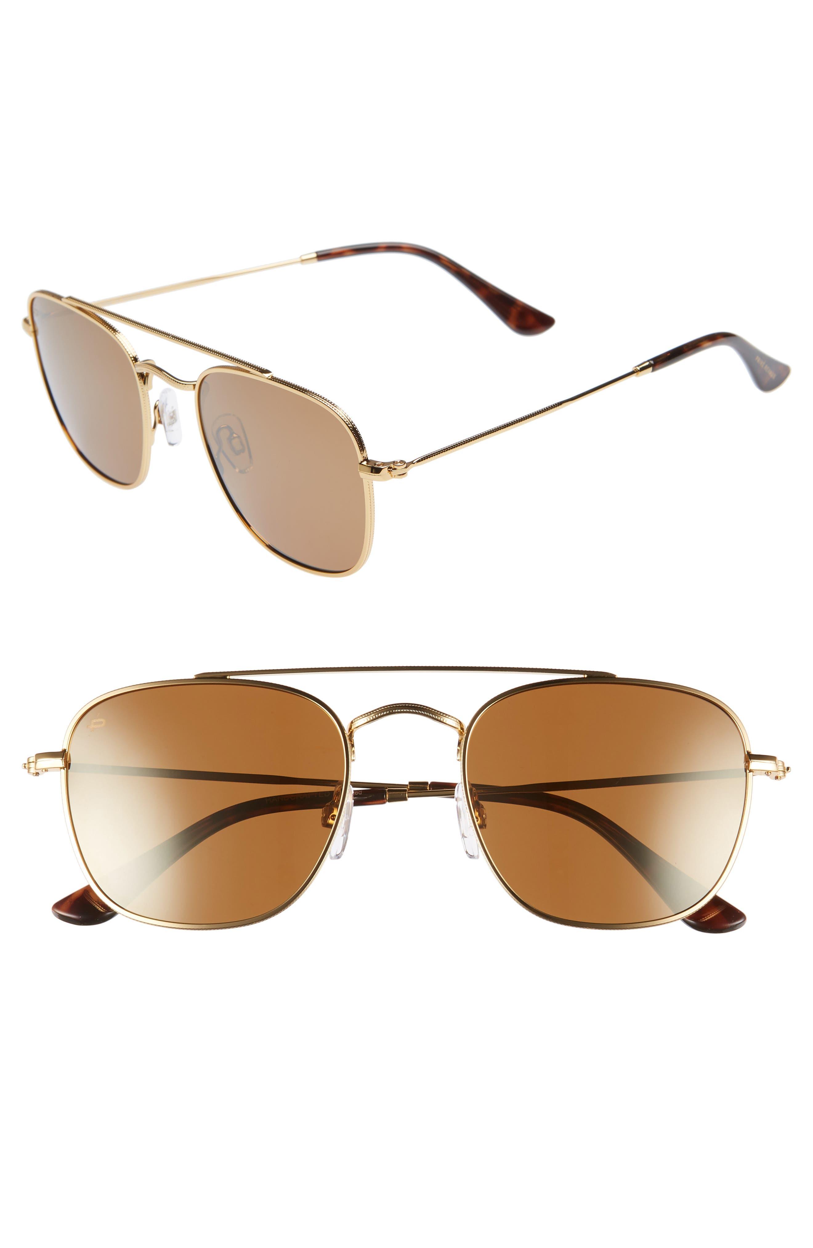 Privé Revaux The Yorker 54mm Sunglasses,                             Main thumbnail 1, color,                             HEAVY GOLD