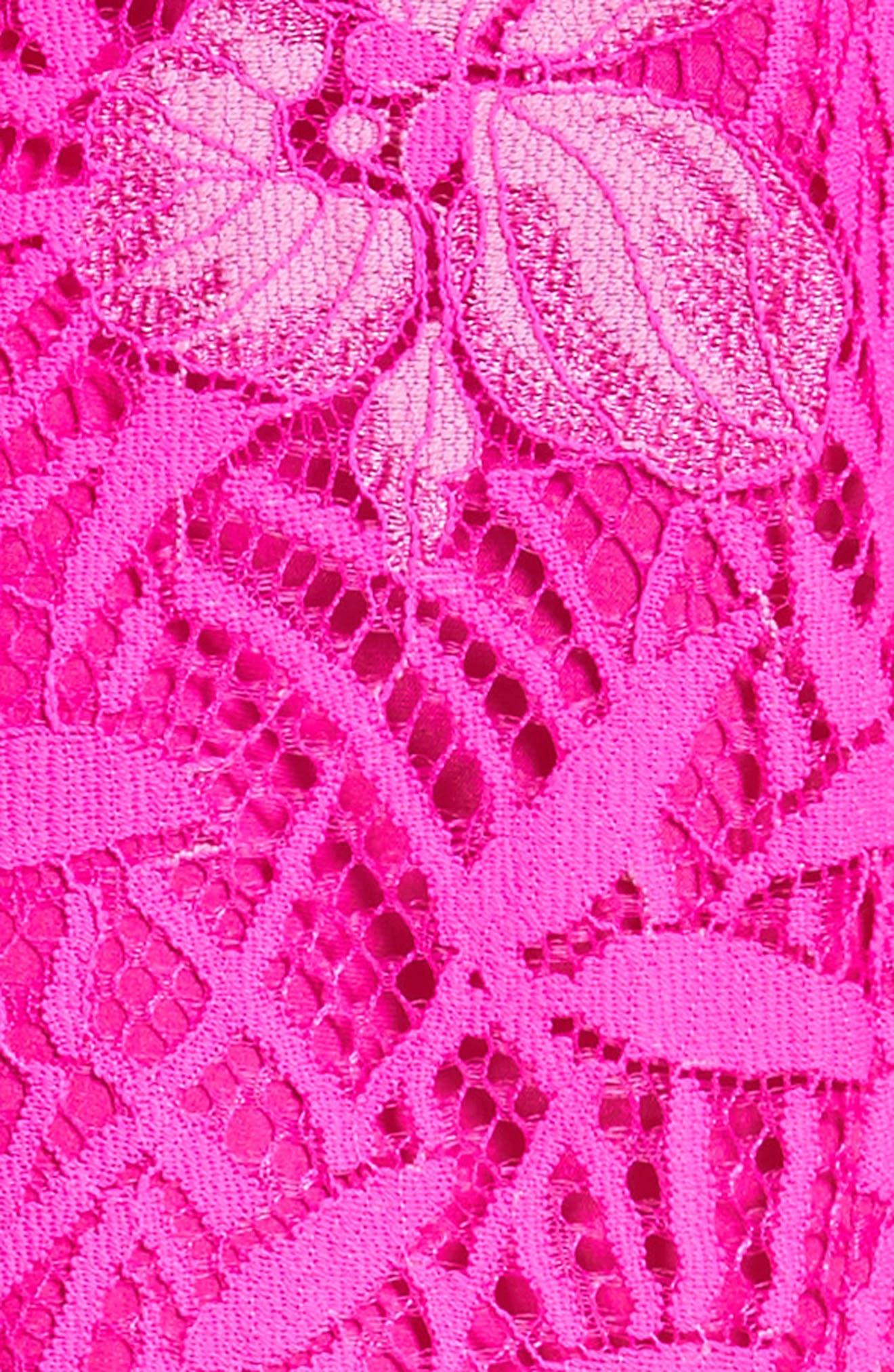 Floral Lace Peplum Top,                             Alternate thumbnail 6, color,