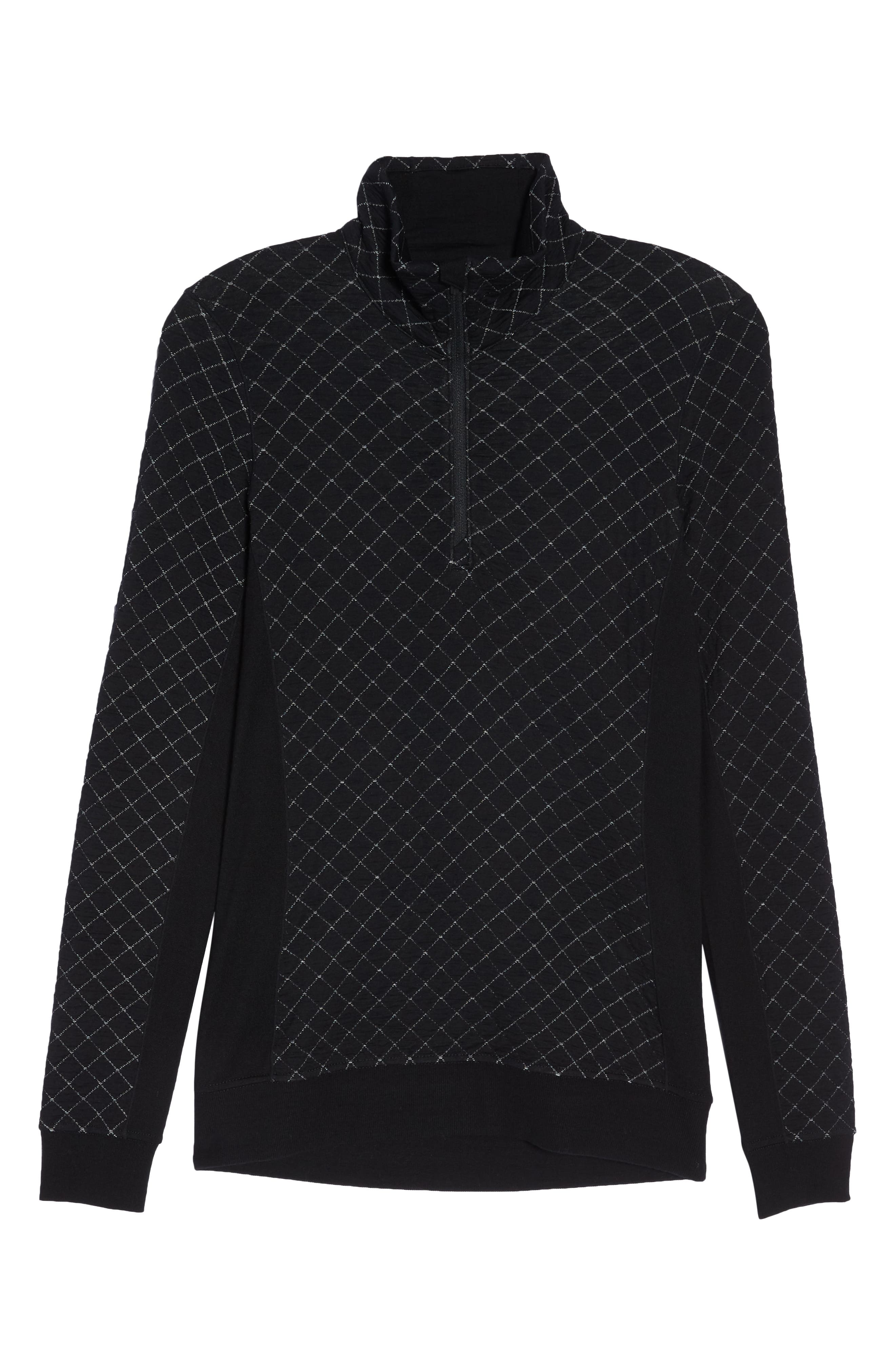 Affinity Thermo Long Sleeve Half Zip Pullover,                             Alternate thumbnail 7, color,                             BLACK