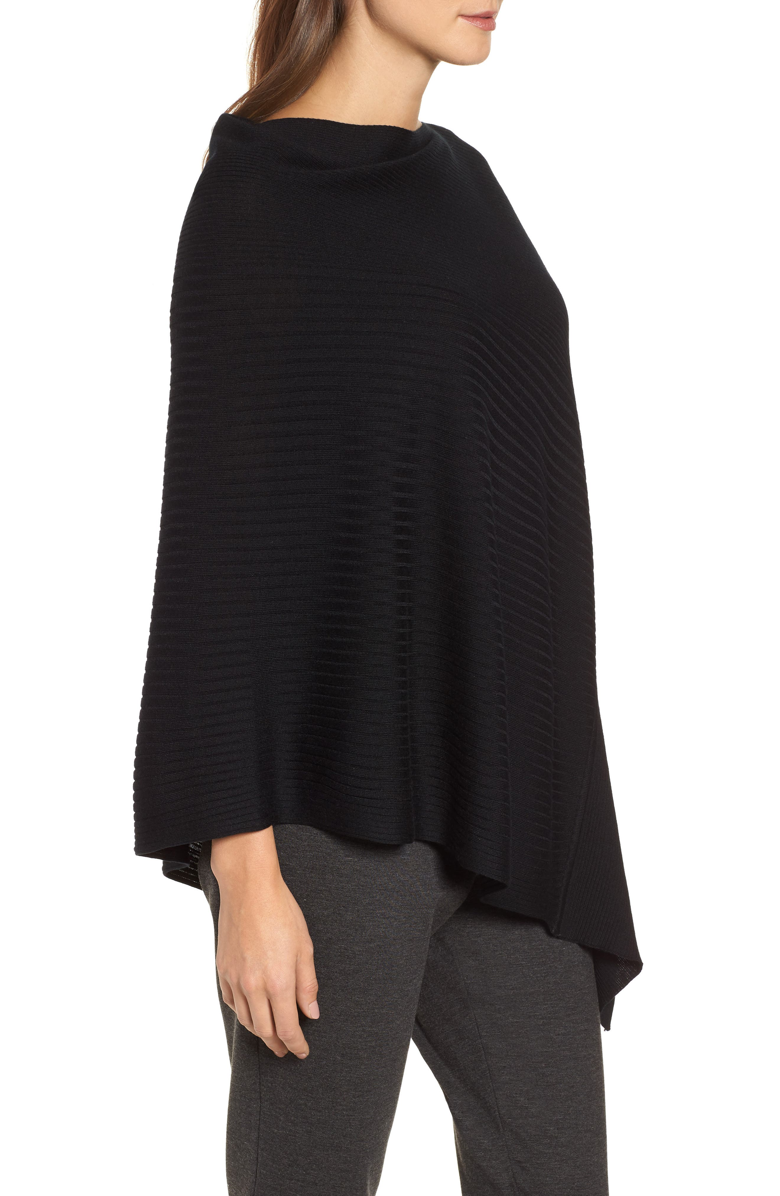 Bateau Neck Sweater Poncho,                             Alternate thumbnail 7, color,