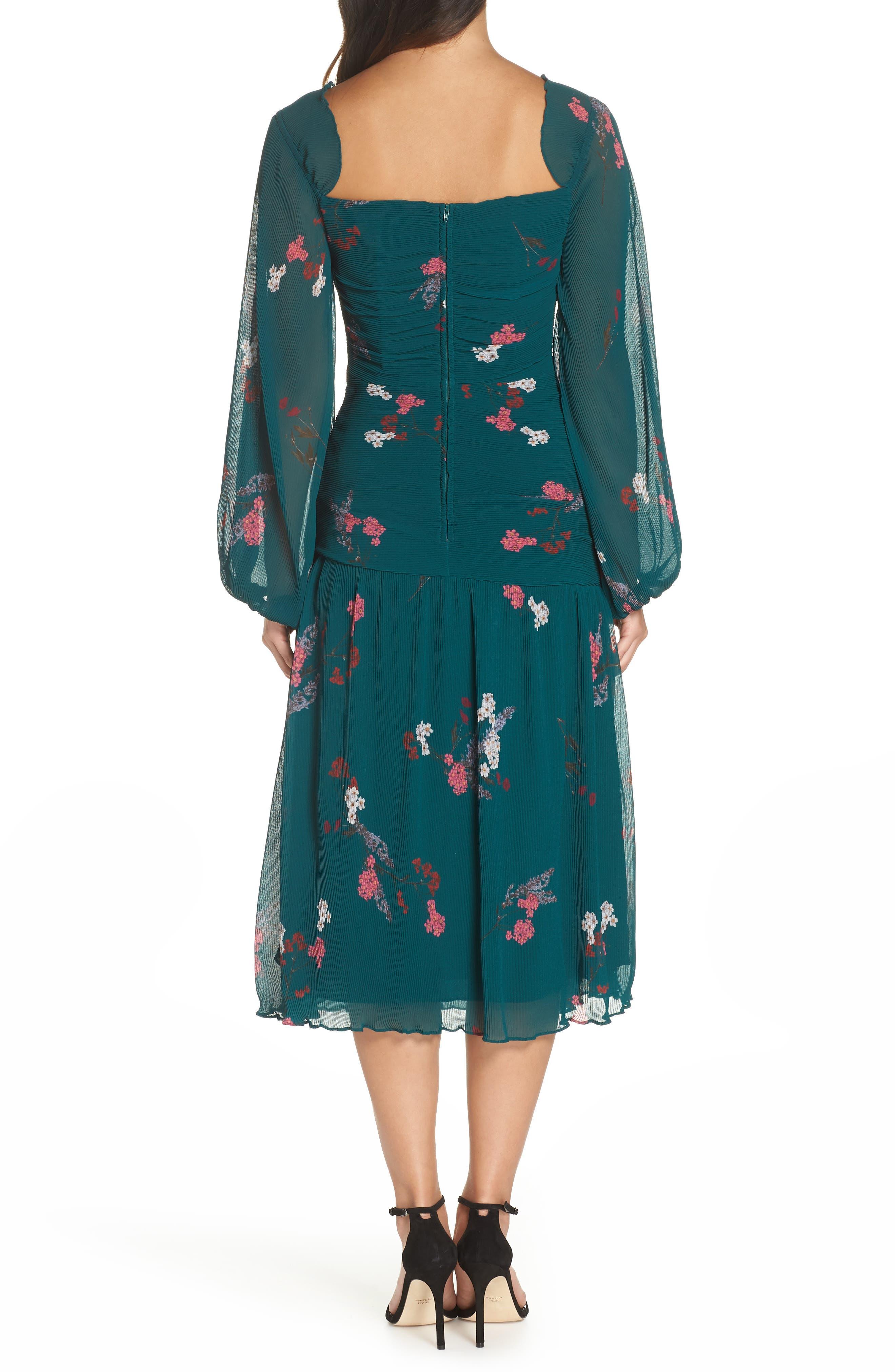 Night Fall Midi Dress,                             Alternate thumbnail 2, color,                             310
