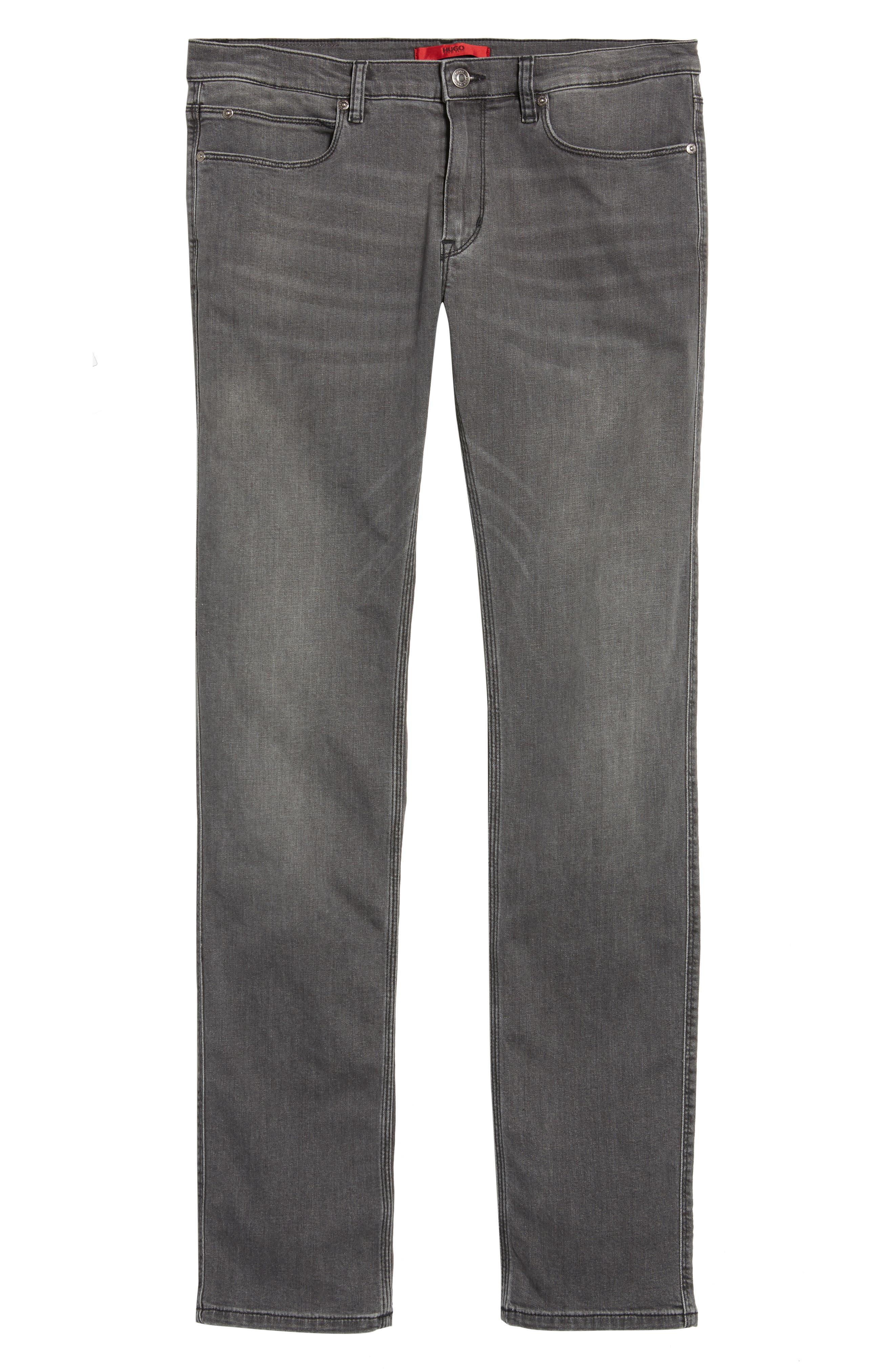 Hugo Boss 708 Stonewash Denim Jeans,                             Alternate thumbnail 6, color,                             021