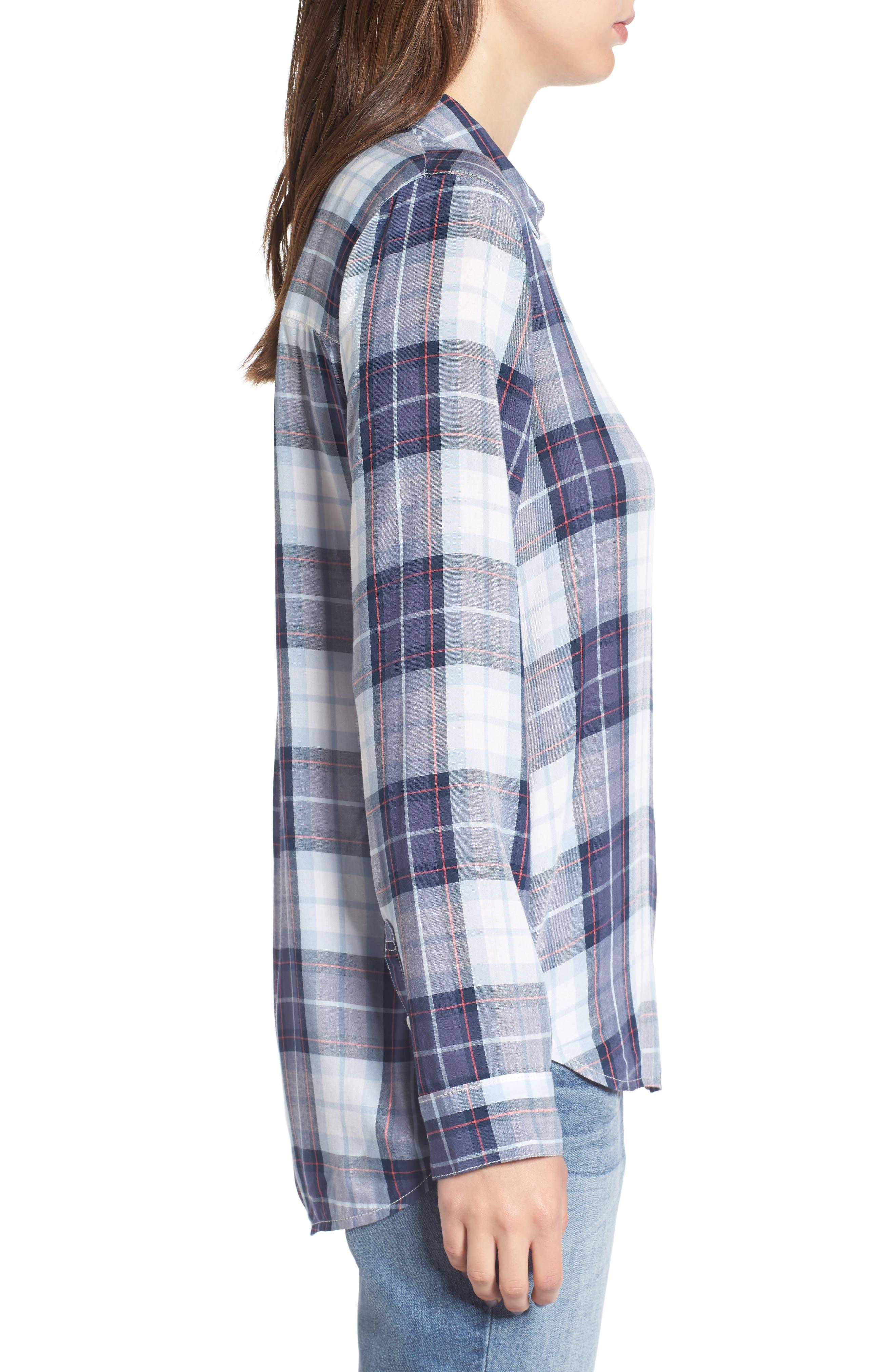 Classic Plaid Shirt,                             Alternate thumbnail 3, color,                             400