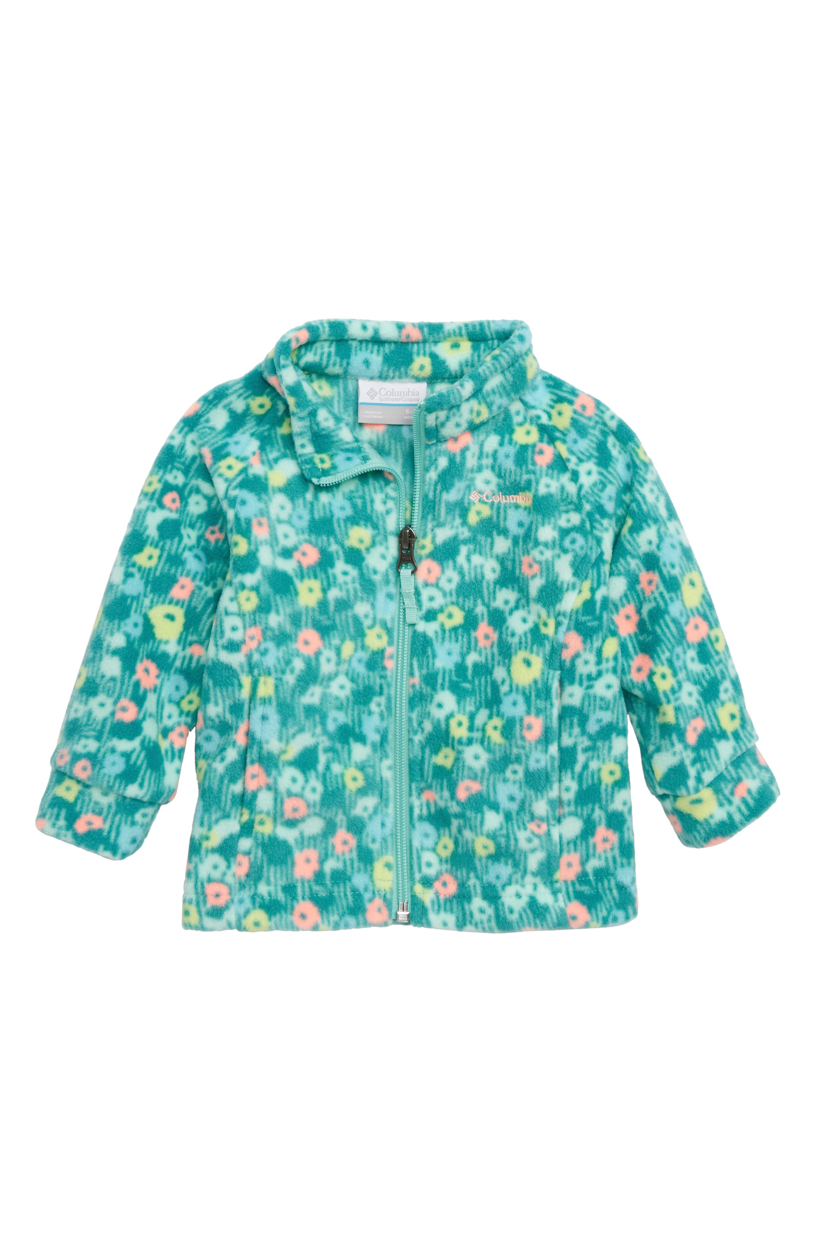 Benton Springs II Fleece Jacket,                         Main,                         color, PIXIE FLORAL PRINT