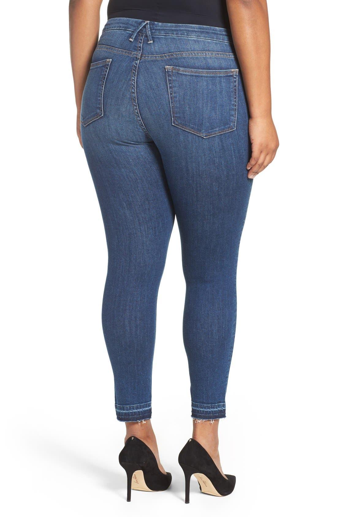 Good Legs High Rise Crop Released Hem Skinny Jeans,                             Alternate thumbnail 6, color,                             401