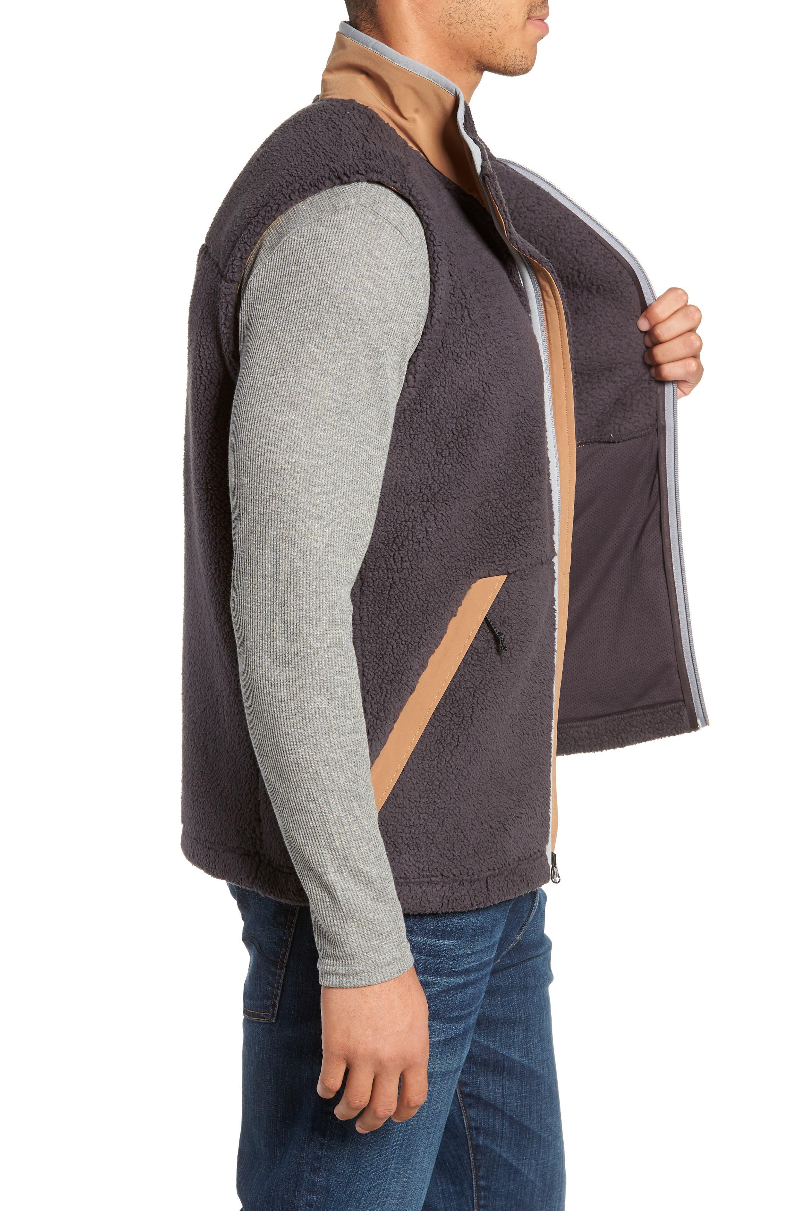 Campshire Fleece Vest,                             Alternate thumbnail 3, color,                             WEATHERED BLACK/ CARGO KHAKI