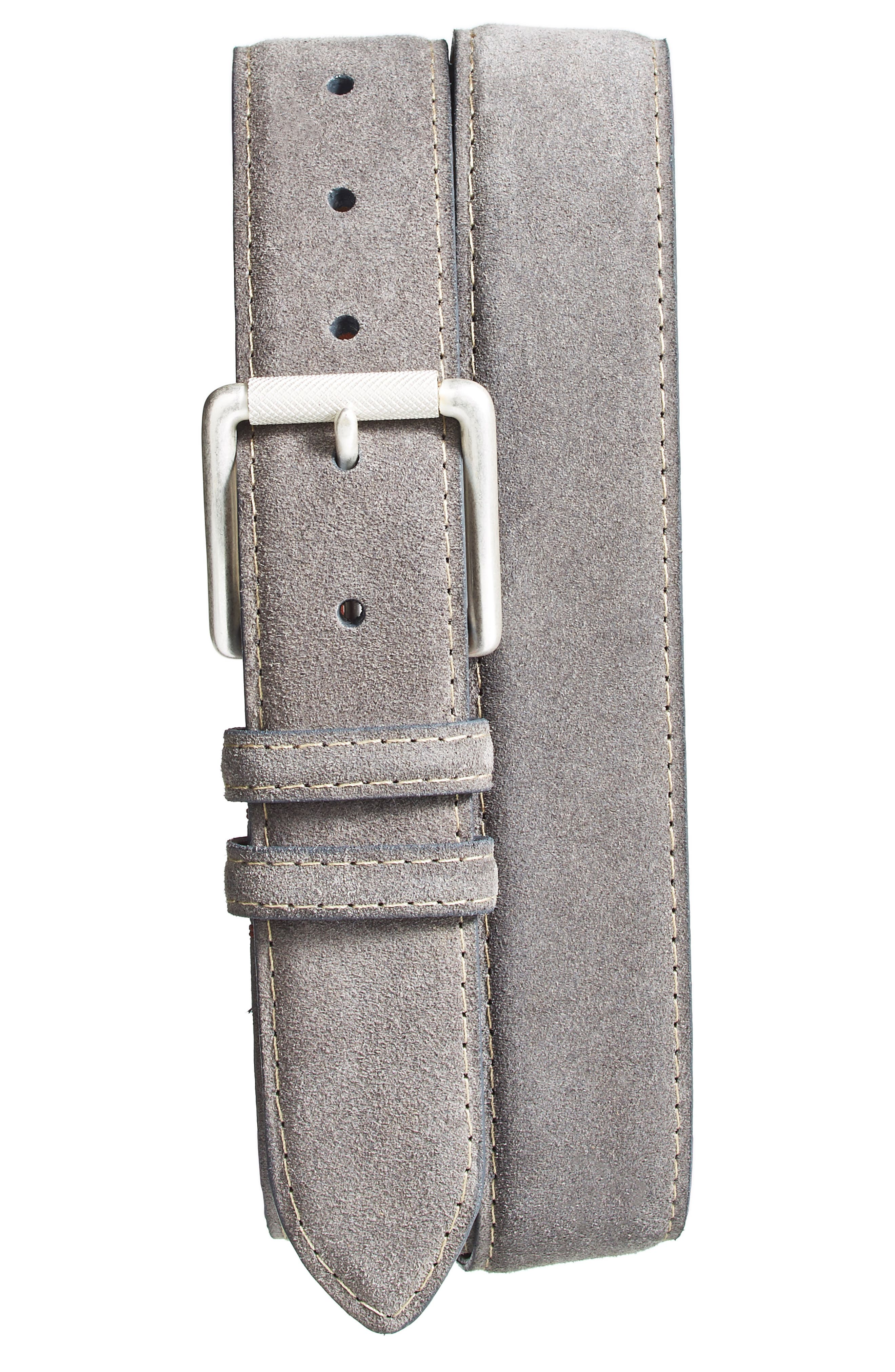 Suede Belt,                             Alternate thumbnail 2, color,                             SLATE