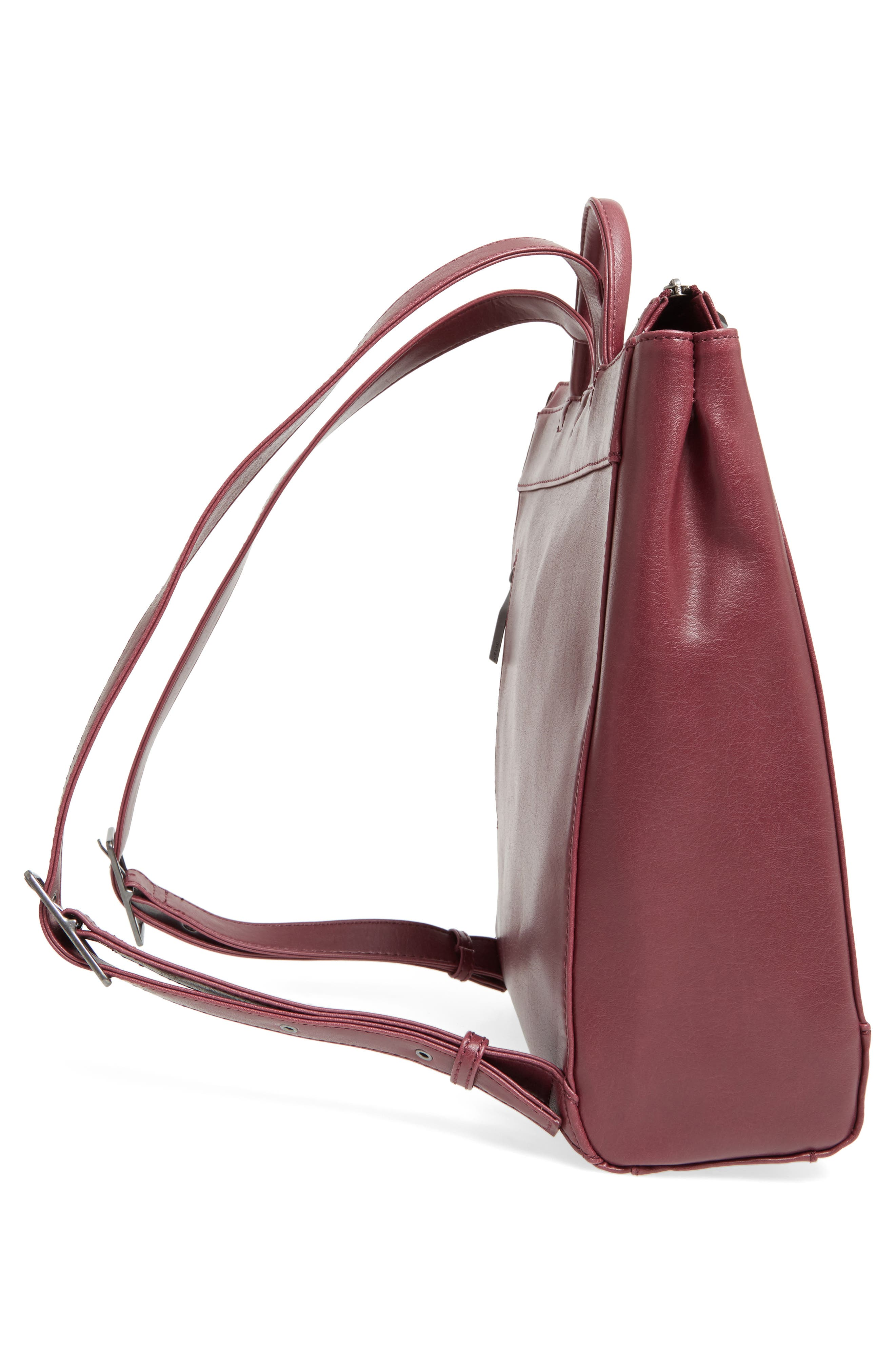 'Katherine' Faux Leather Backpack,                             Alternate thumbnail 34, color,