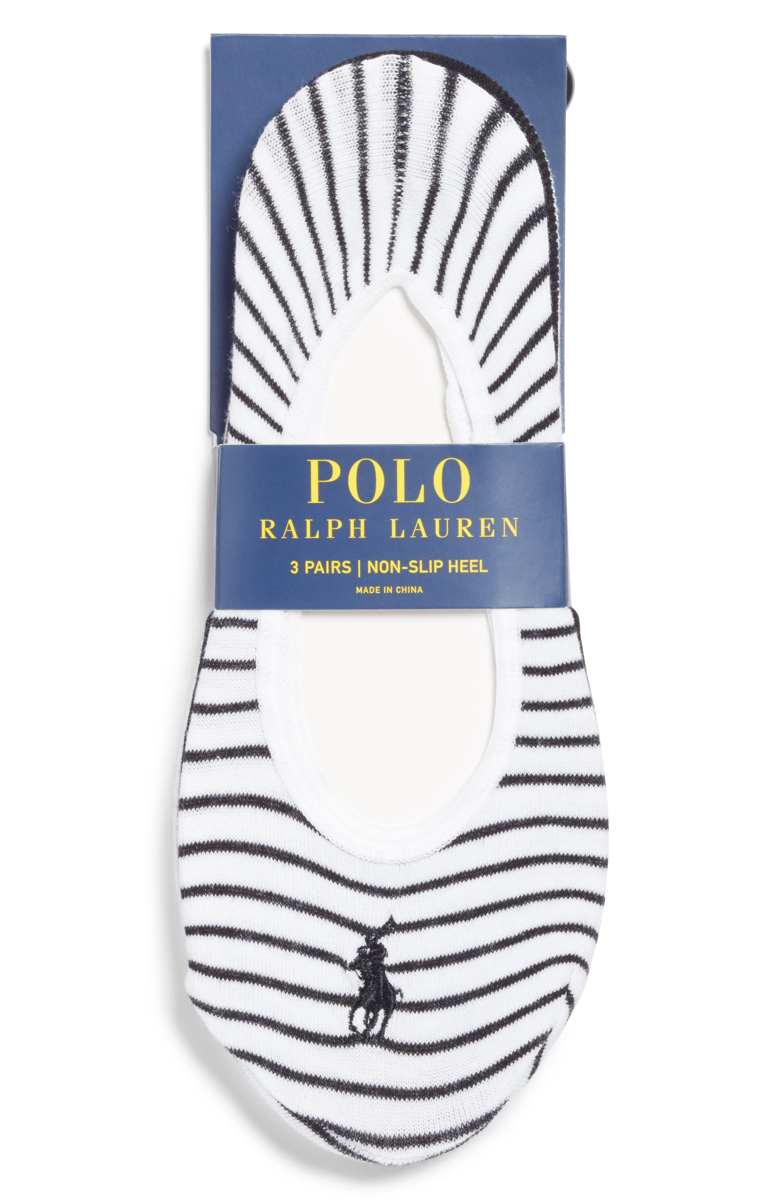 3-Pack Stripe No-Show Socks,                             Alternate thumbnail 2, color,                             102