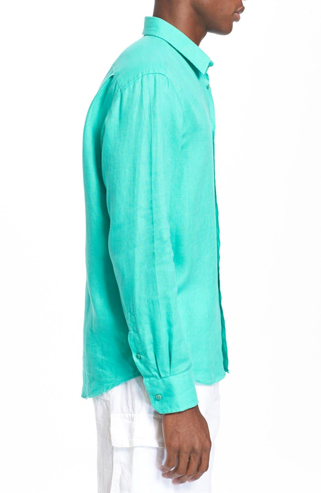 'Caroubier' Linen Shirt,                             Alternate thumbnail 44, color,