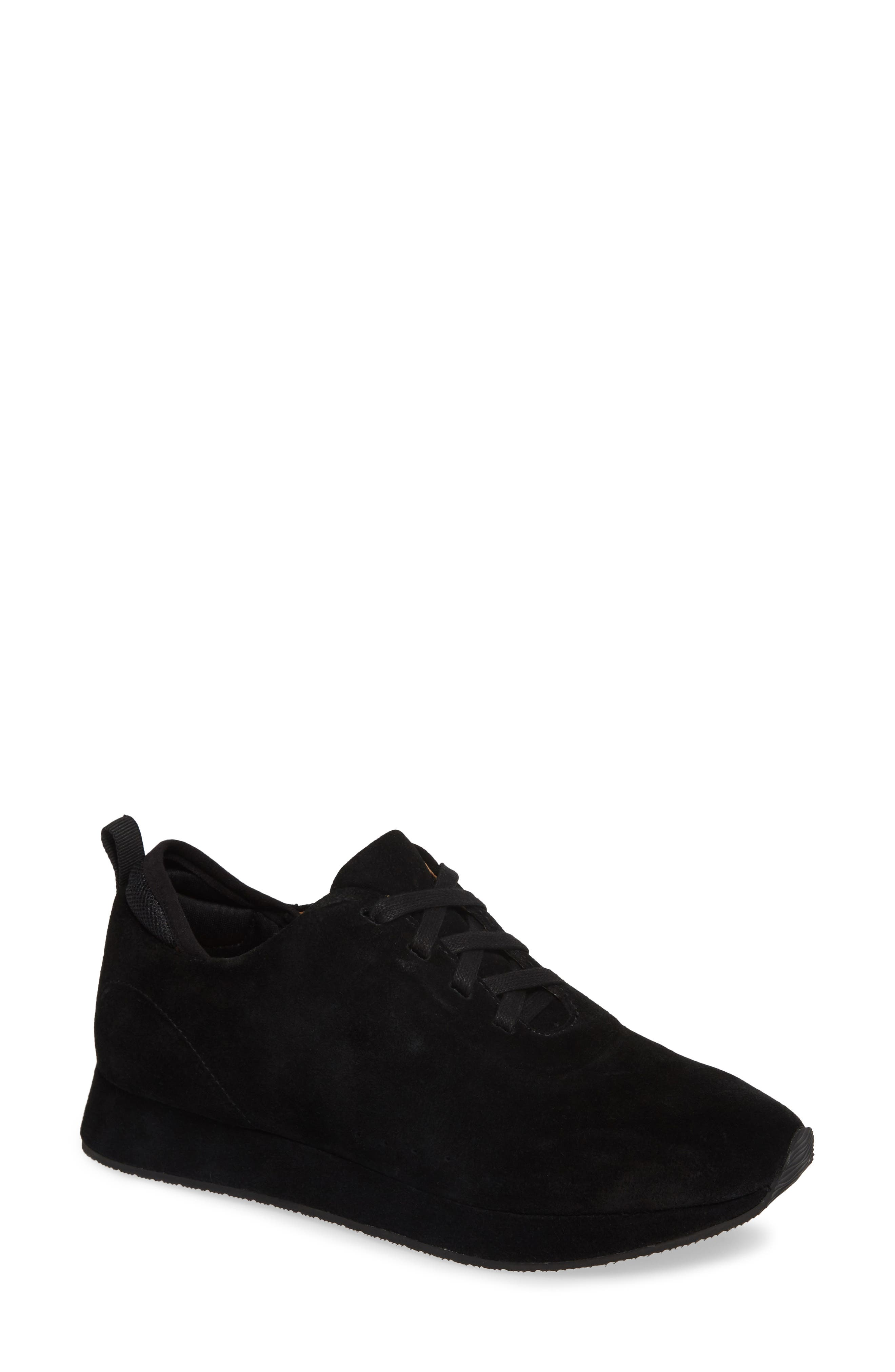 Mabel Sneaker,                         Main,                         color, BLACK SUEDE